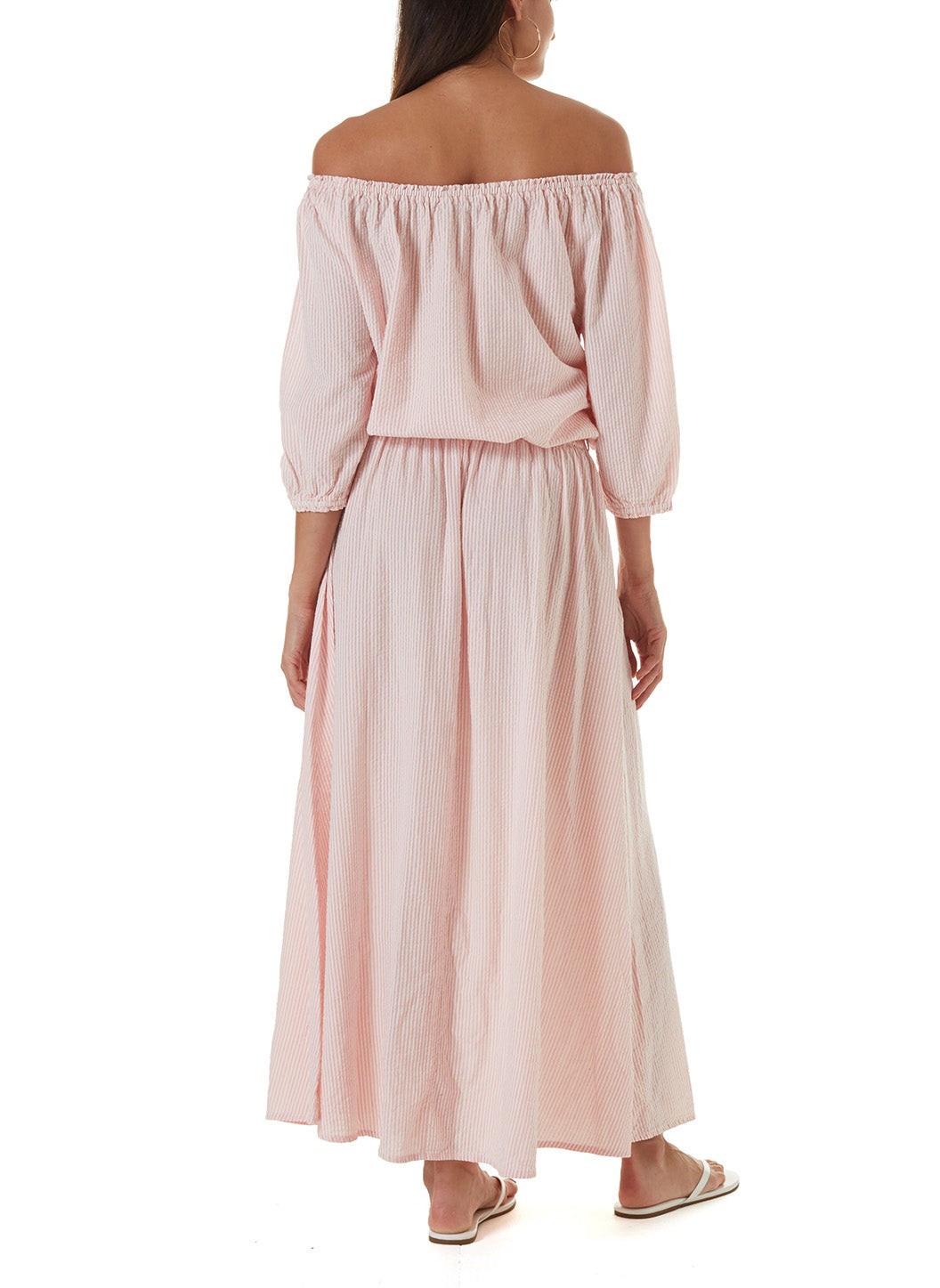 Alisa Blush Stripe Maxi Skirt