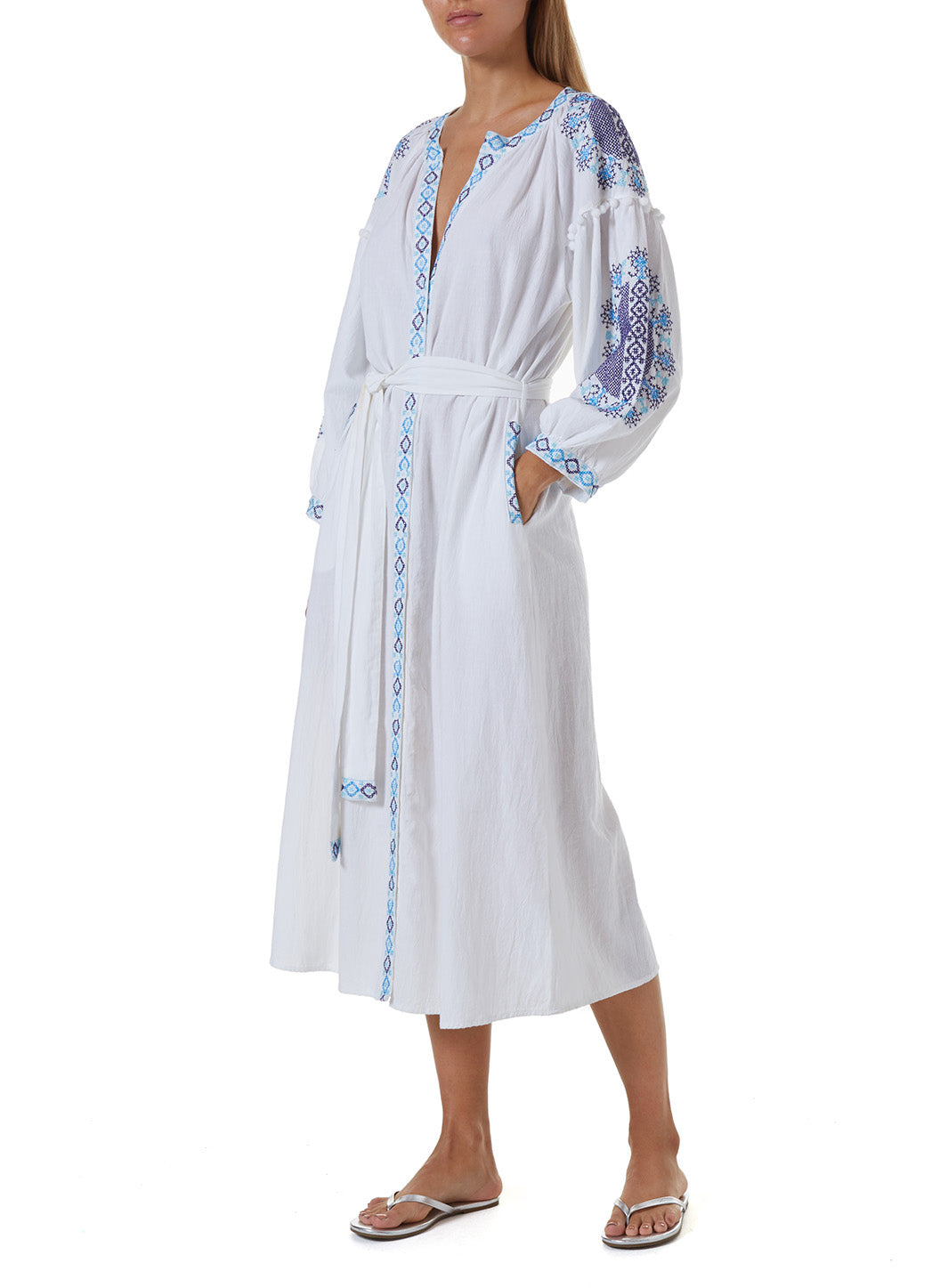 Ally White/Celeste Long Kaftan