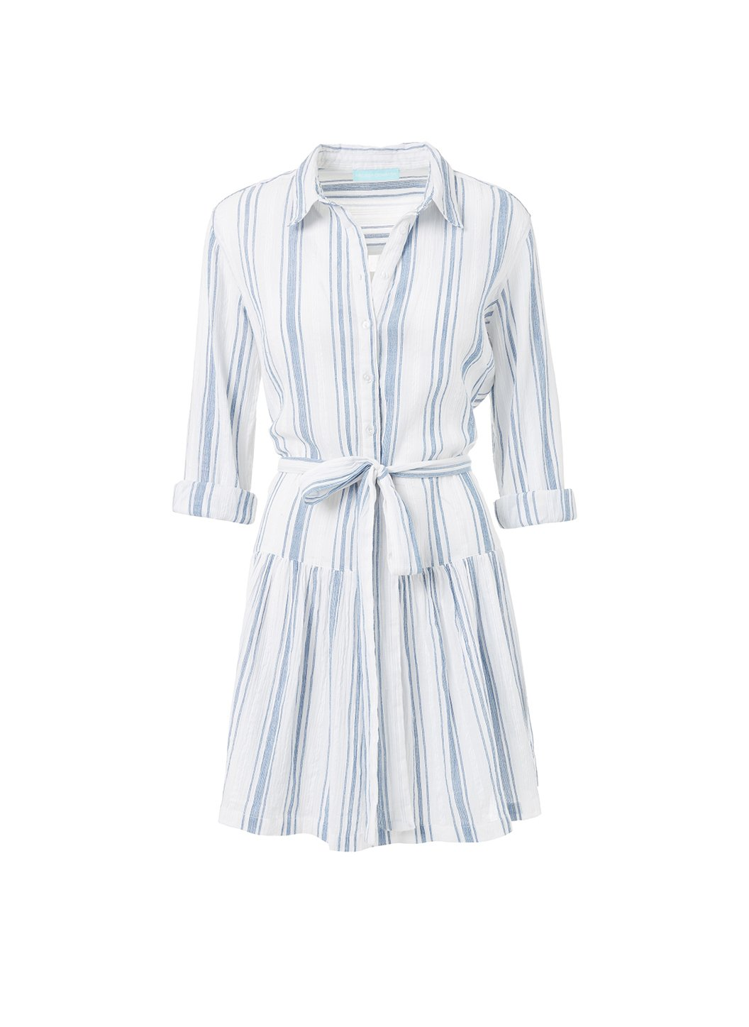 amelia blue stripe short belted shirt dress 2019