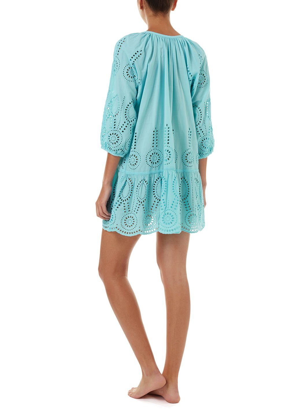 ashley sky embroidered 34sleeve short coverup 2019 B