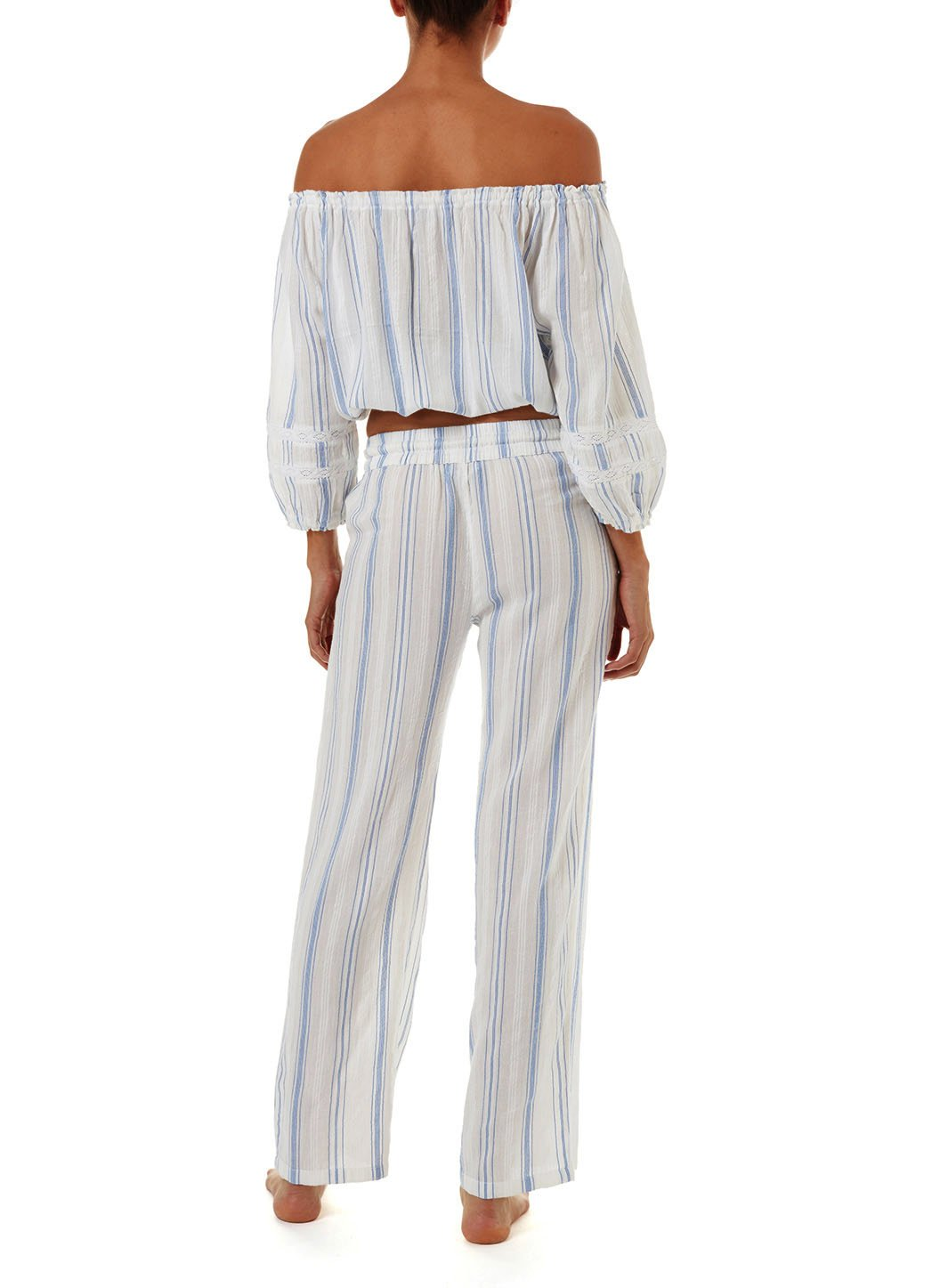 azura blue stripe offtheshoulder top 2019 B