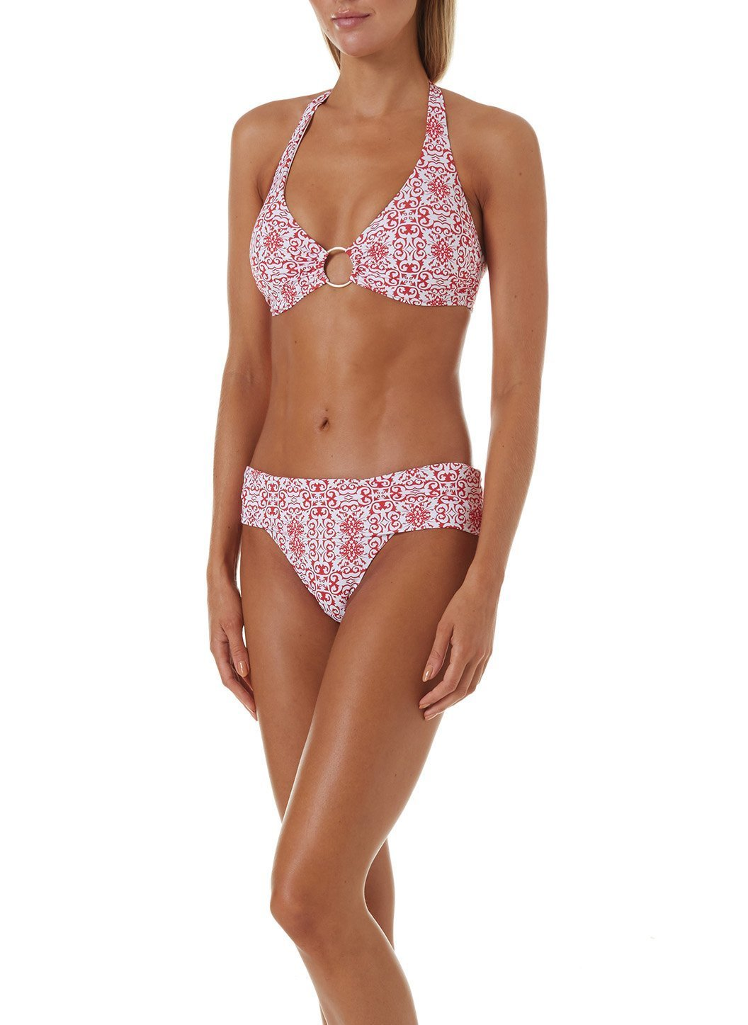 brussels bikini amalfi red
