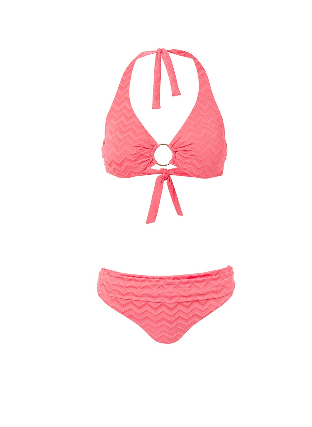 brussels coral zigzag halterneck ring supportive bikini 2019
