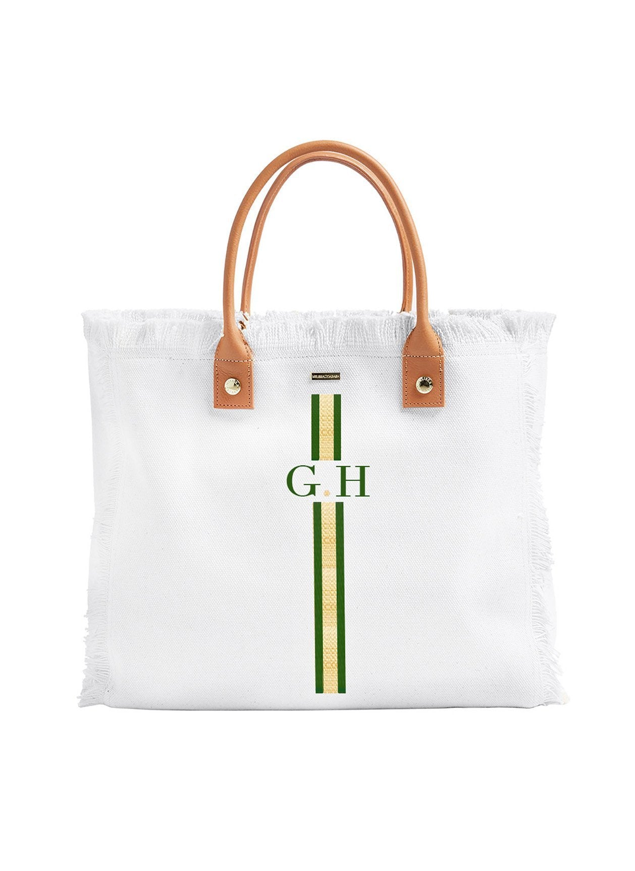 Cap Ferrat White Green/Gold