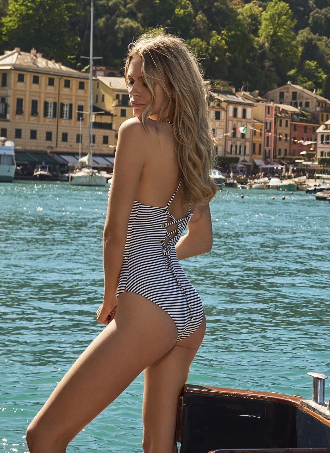 catalina nautical navy swimsuit