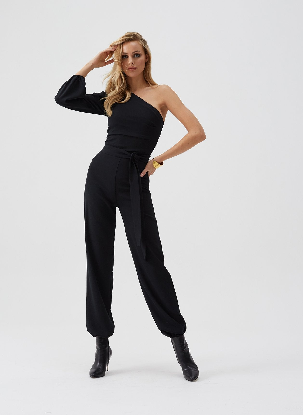Charlie Black Aysmetrical Jumpsuit