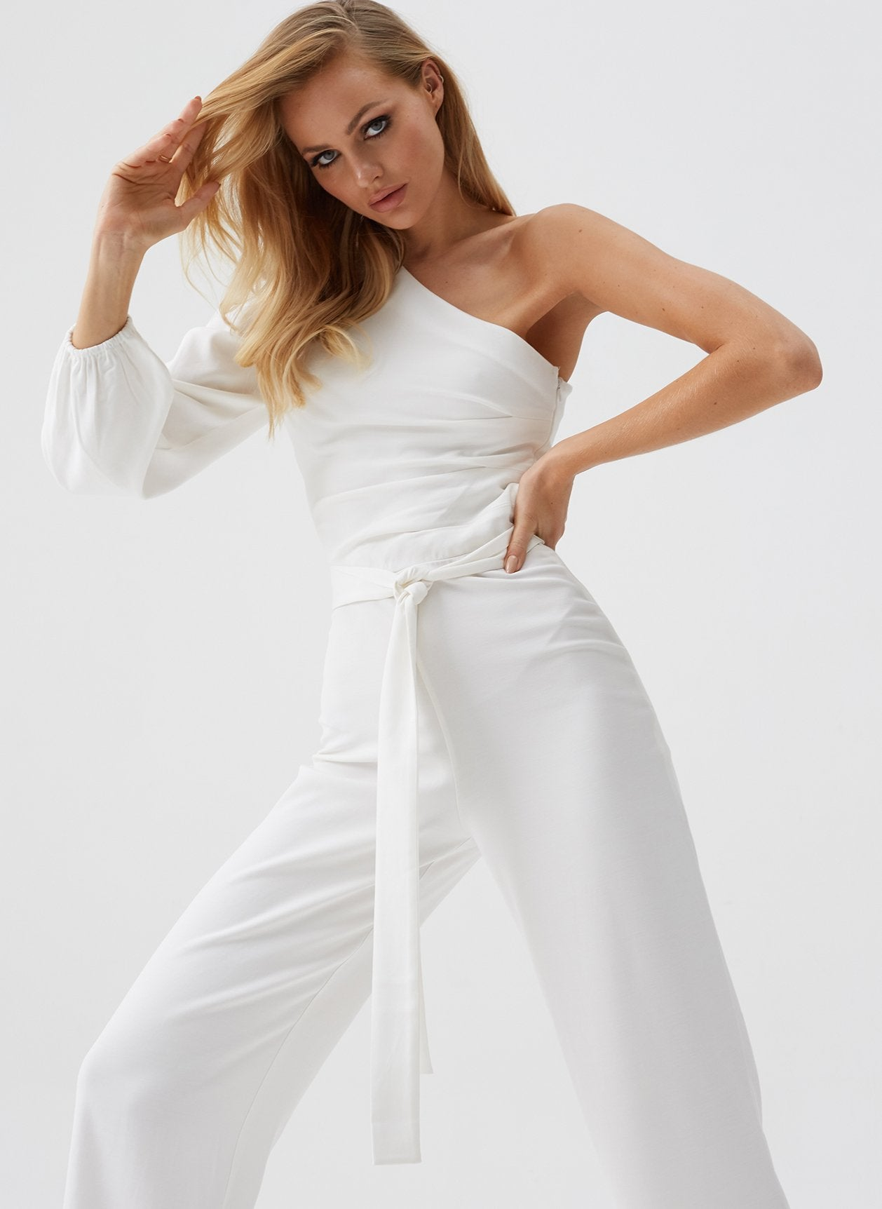 Charlie White Asymmetrical Jumpsuit
