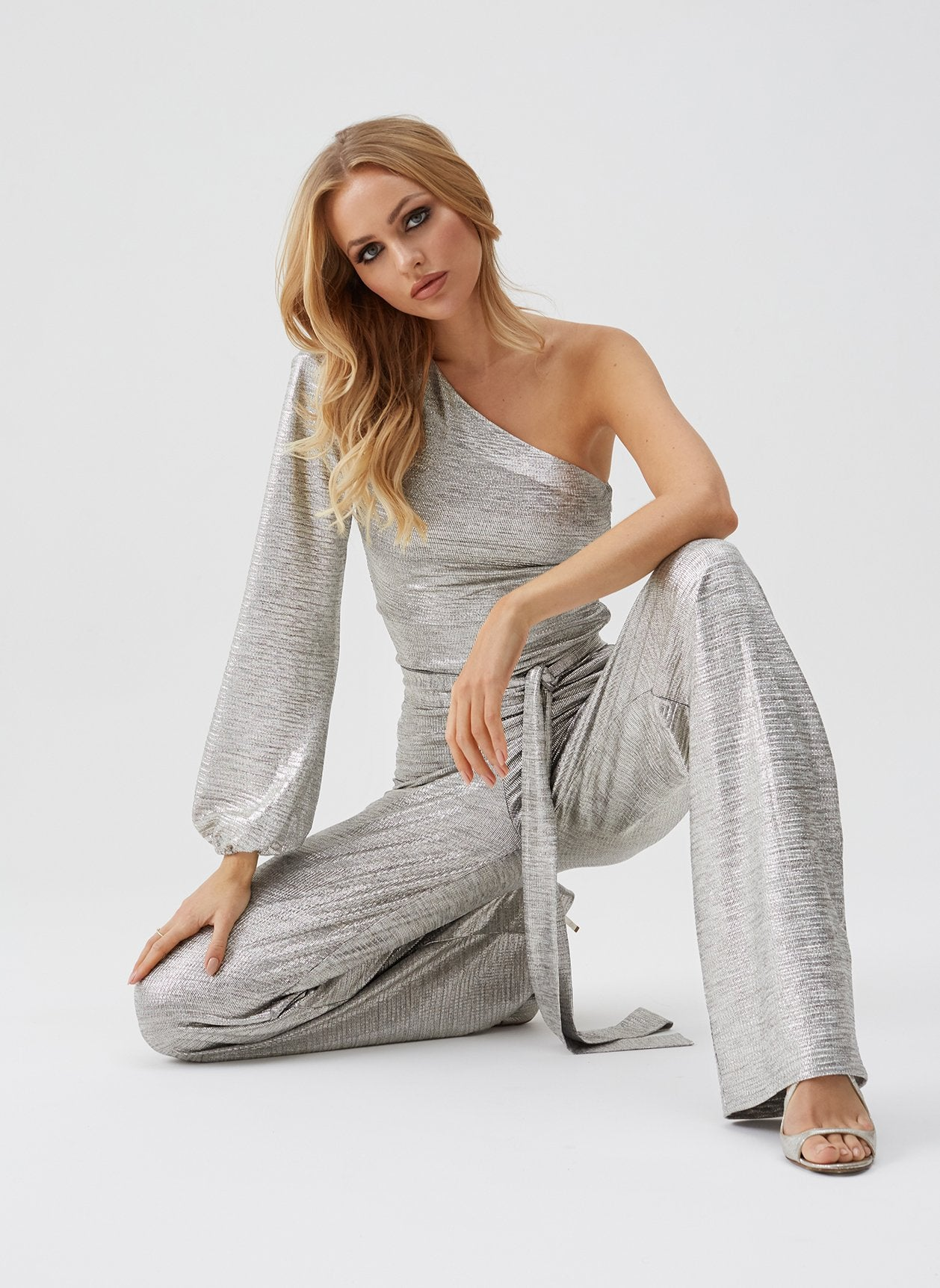 Charlie Gold Aysmetrical Jumpsuit