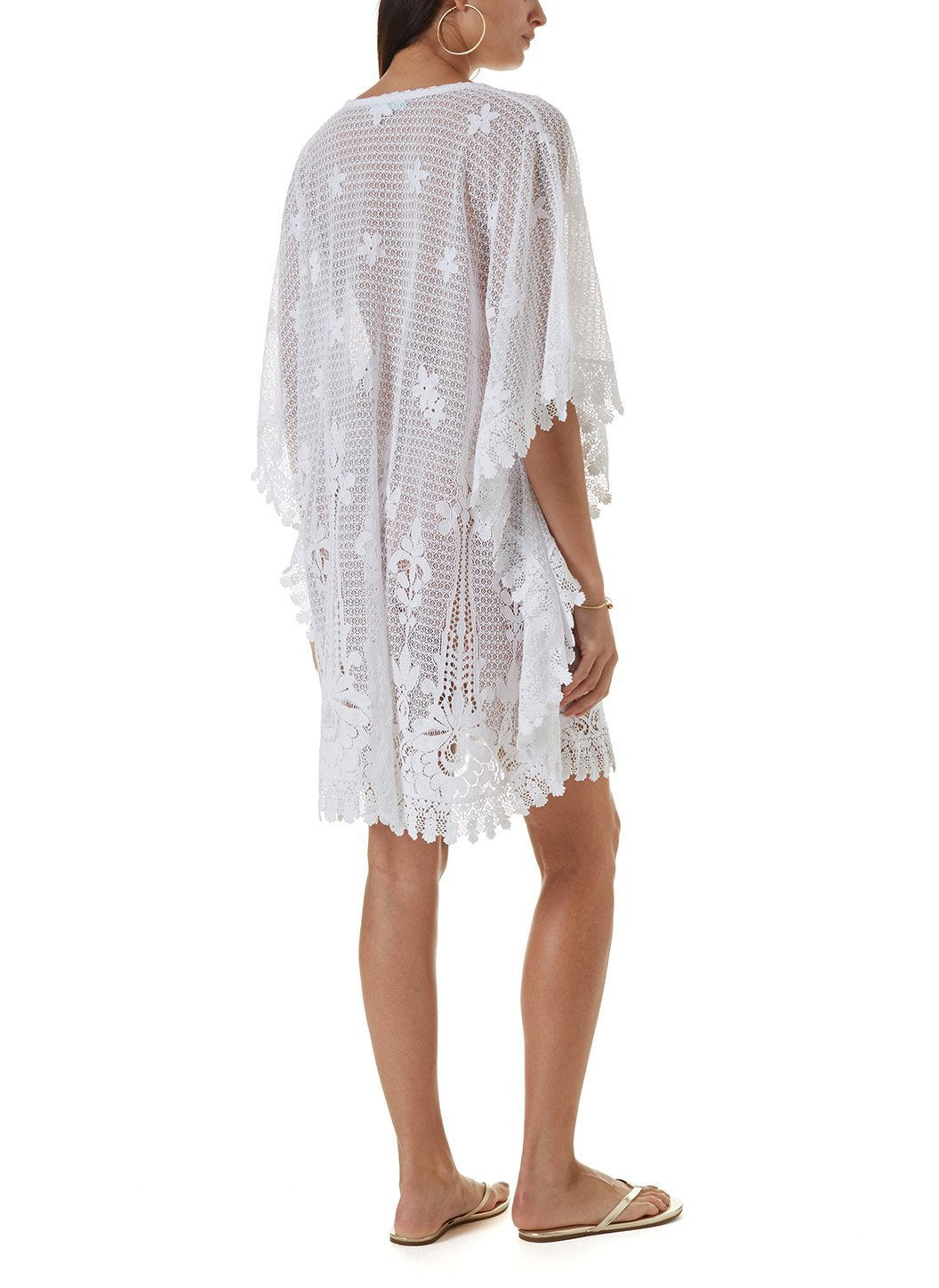 cindy white short kaftan