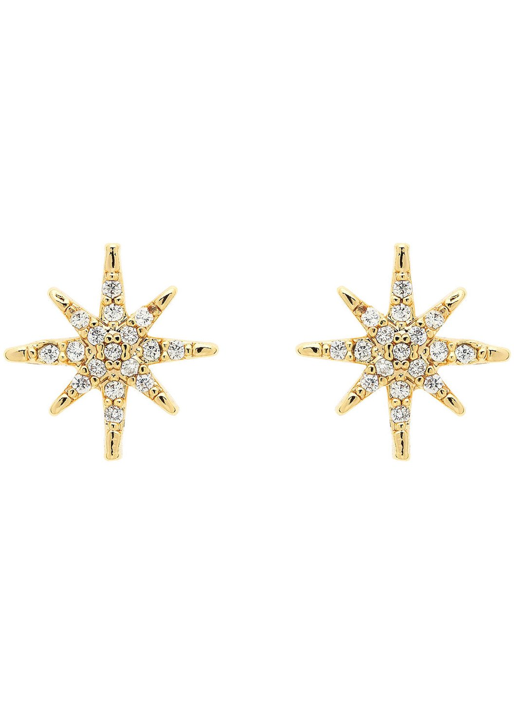 Crystal Star Stud Earrings