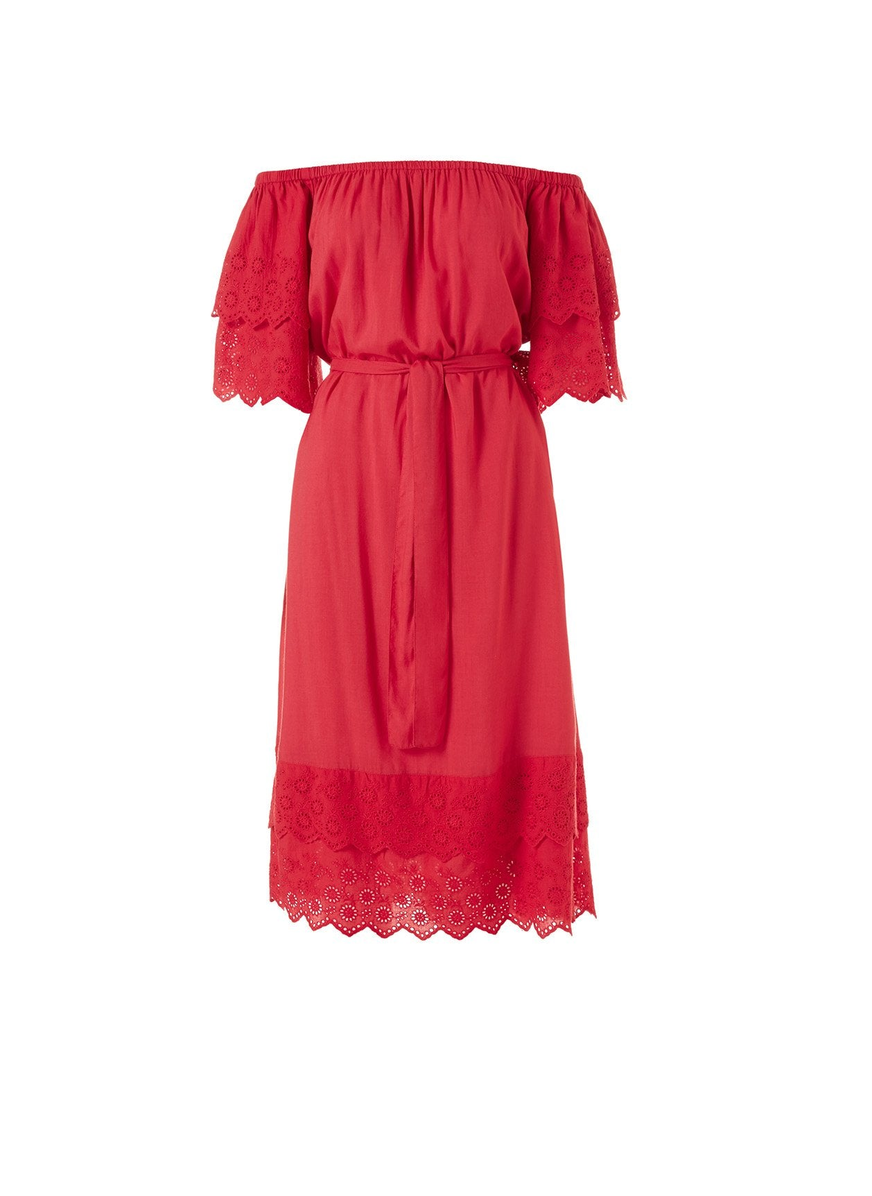 Dee Red Midi Dress