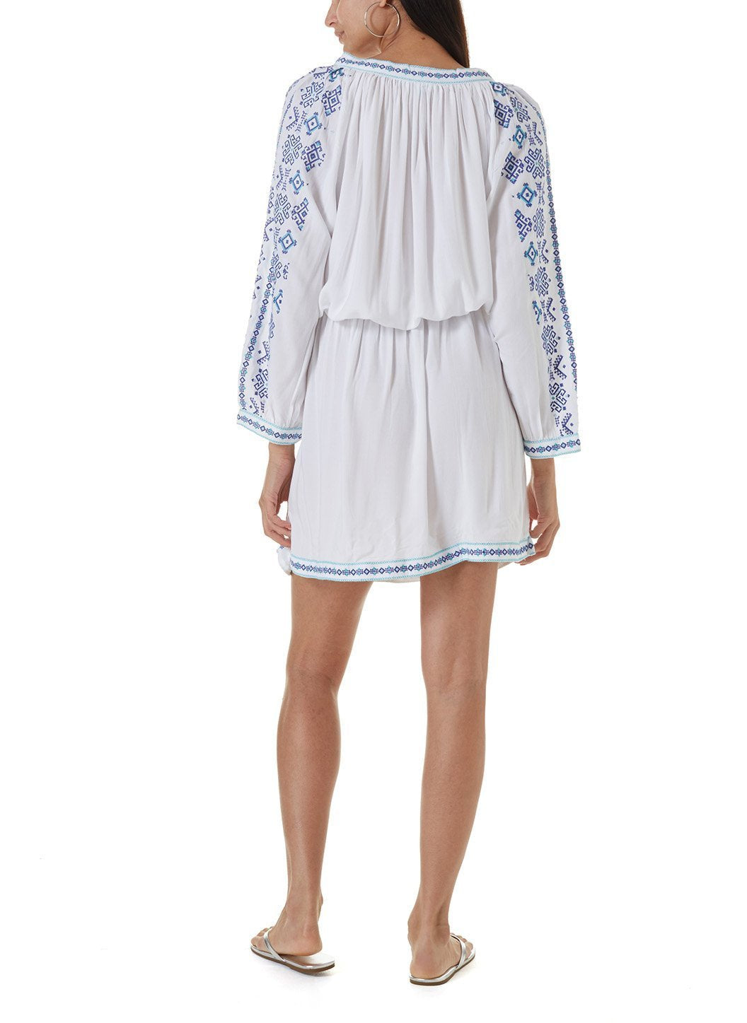 ellie white celeste short kaftan