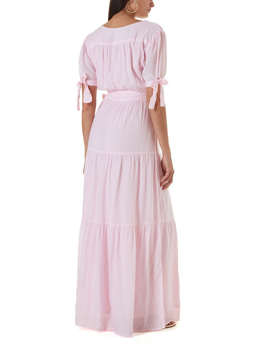 emily blush long dress