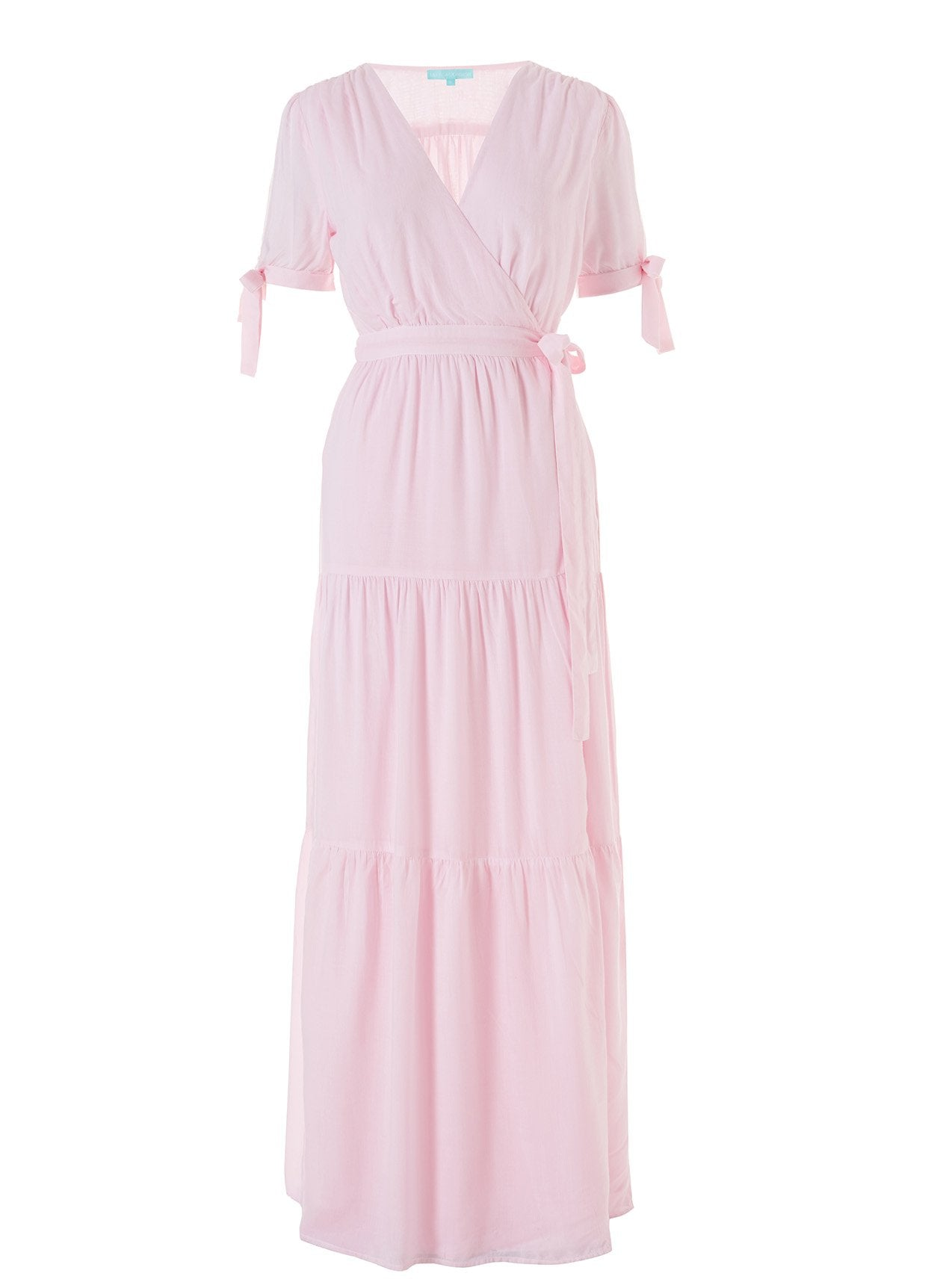 Emily Blush Tiered Maxi Wrap Dress 2020