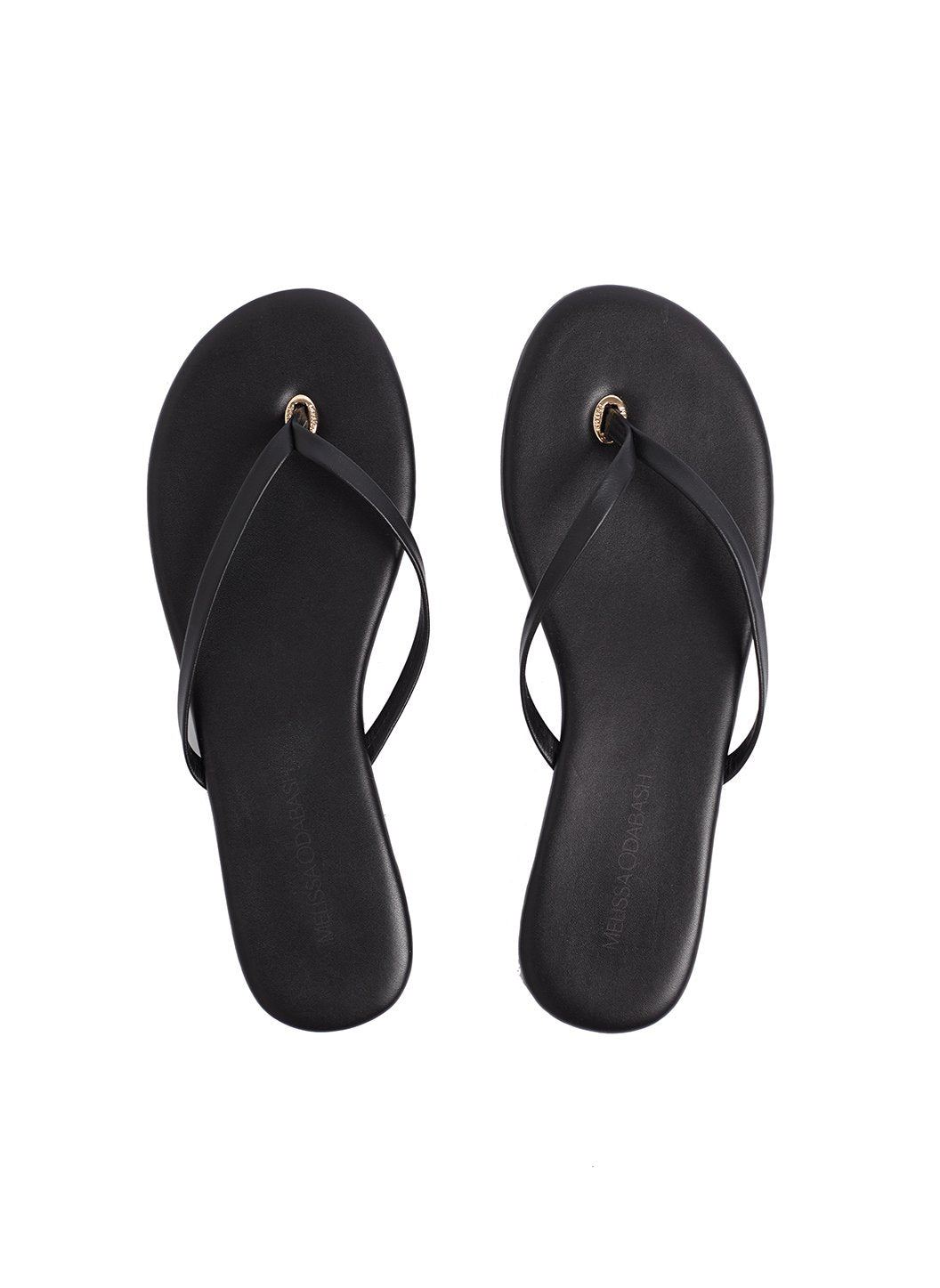 Leather Flip Flops Black