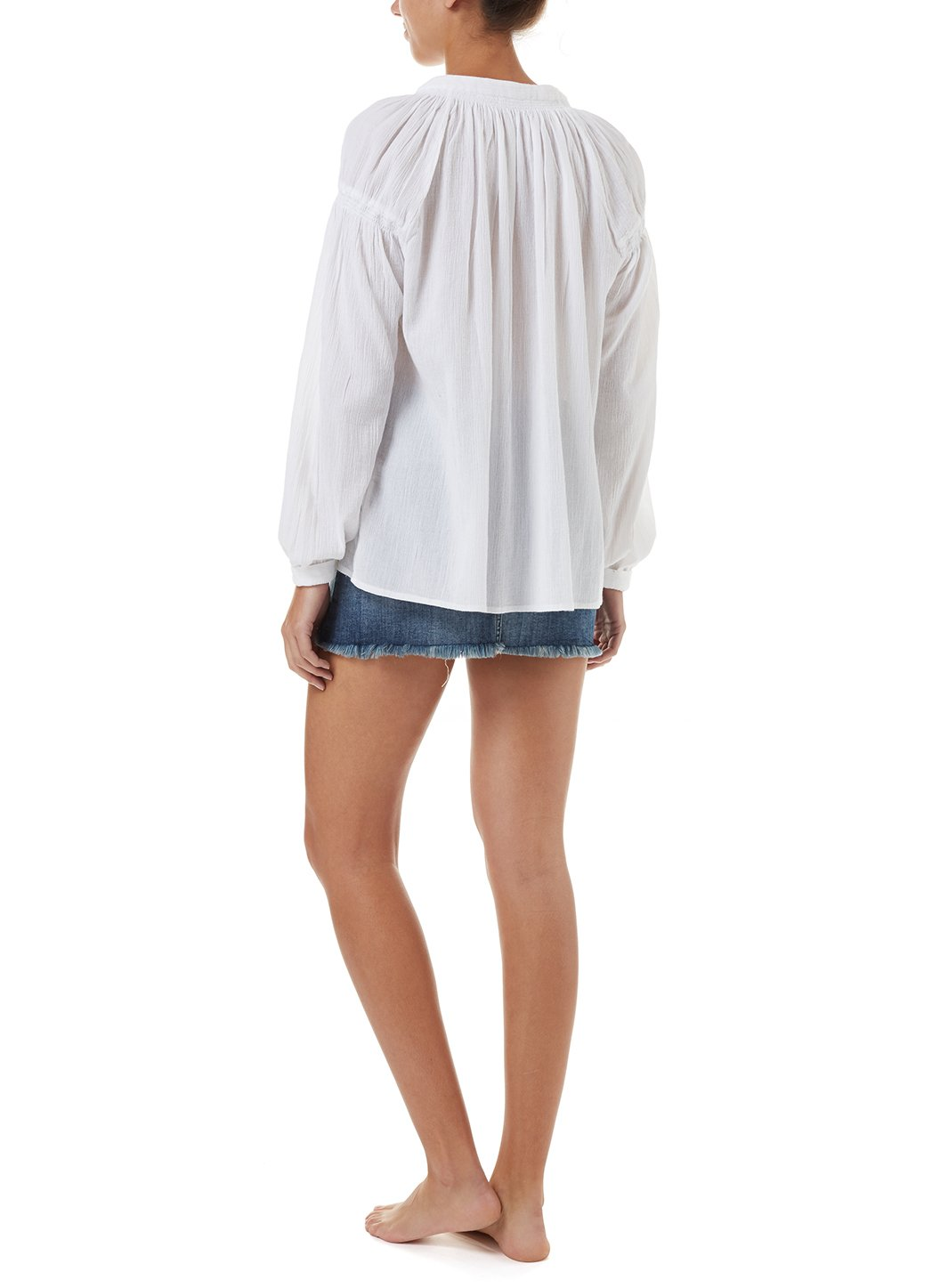georgia white buttondown top 2019 B