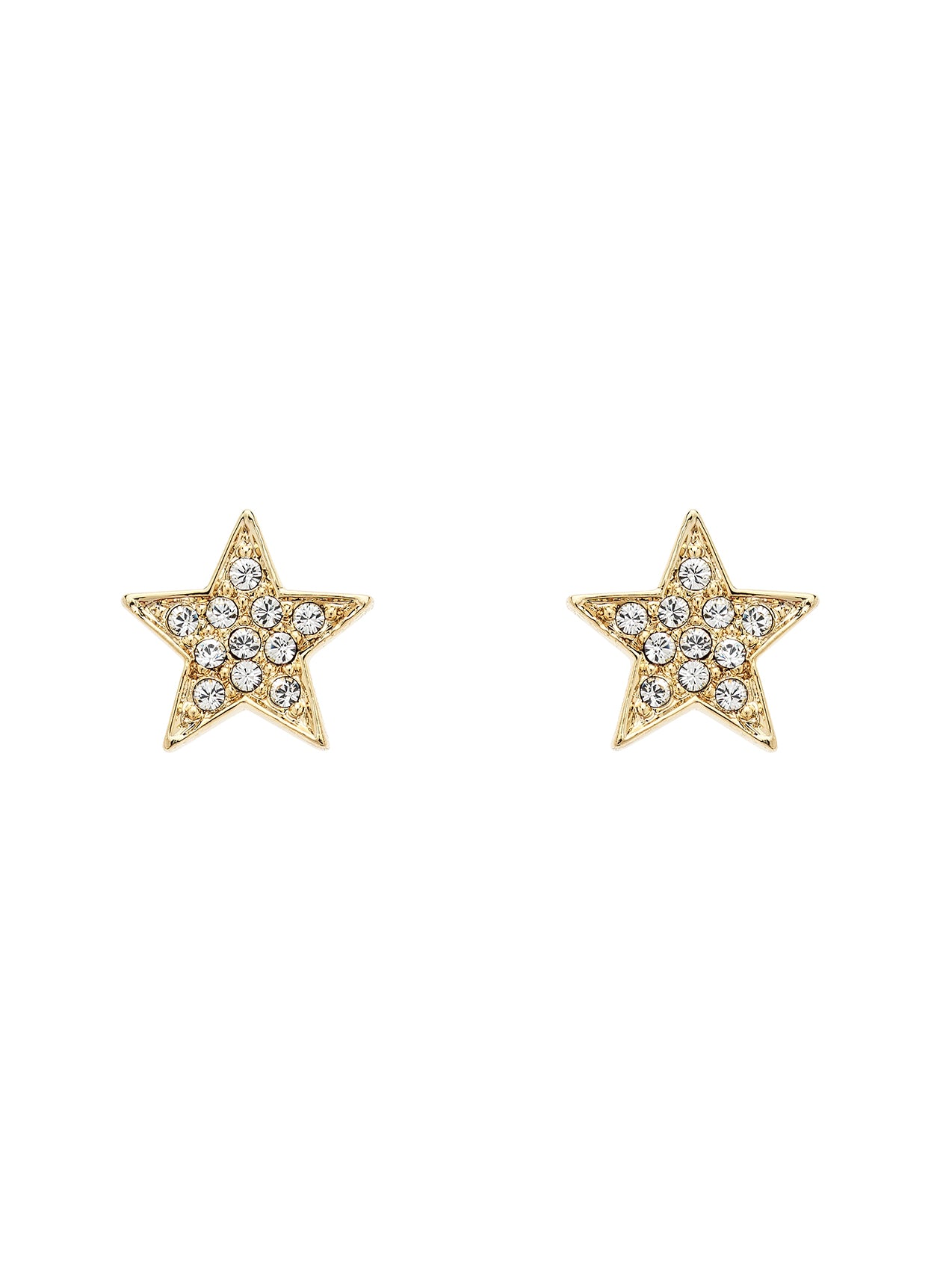 Gold Swarovski Star Earrings