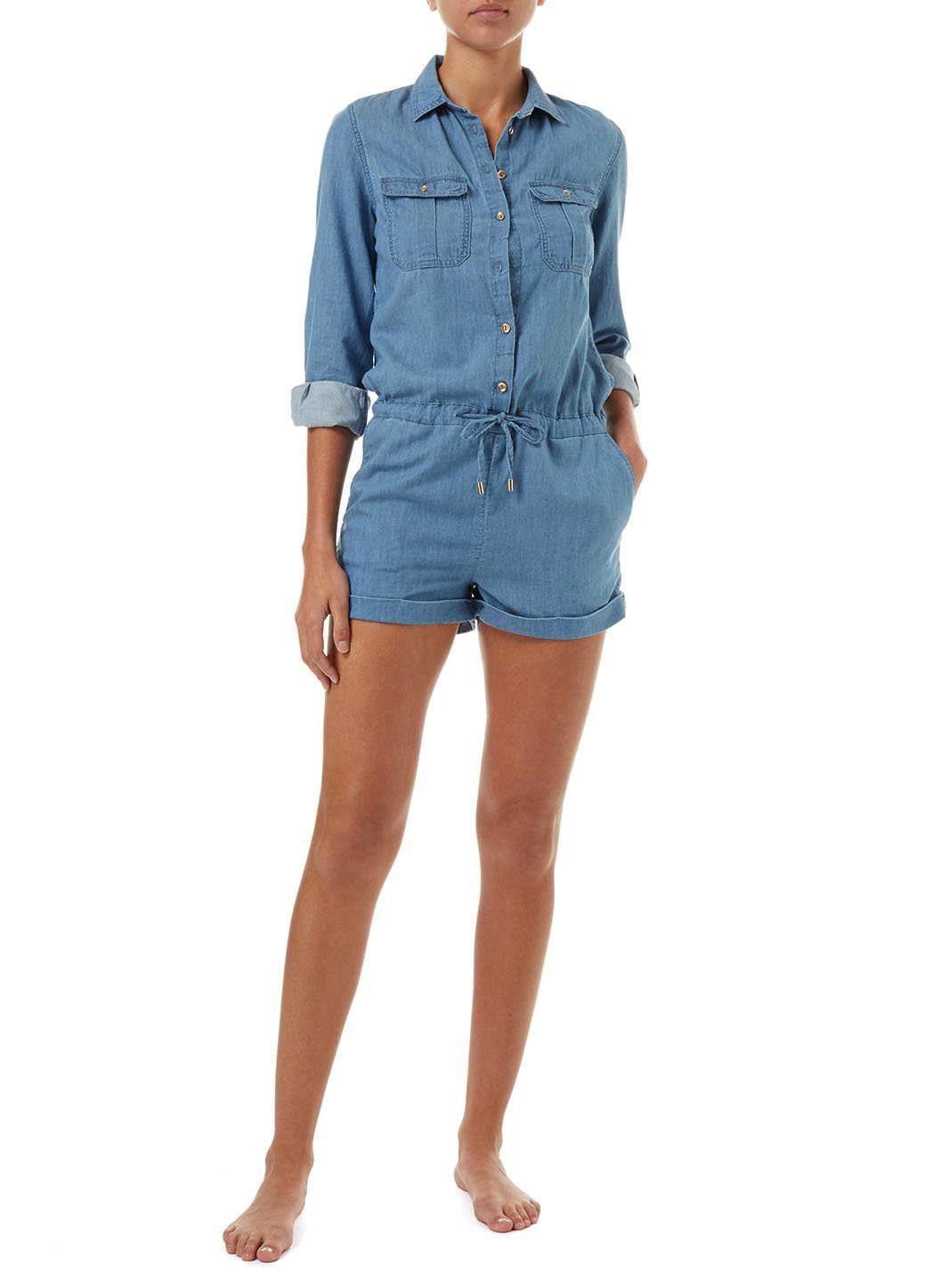 honour blue denim utility playsuit 2019 2E
