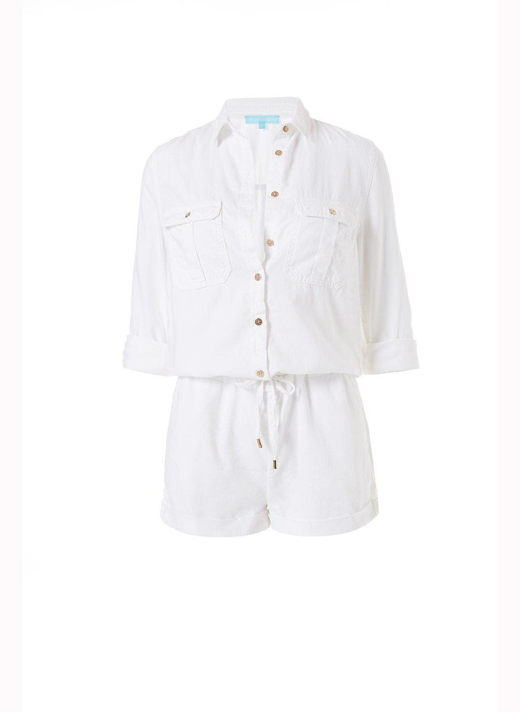 honour white denim utility playsuit 2019