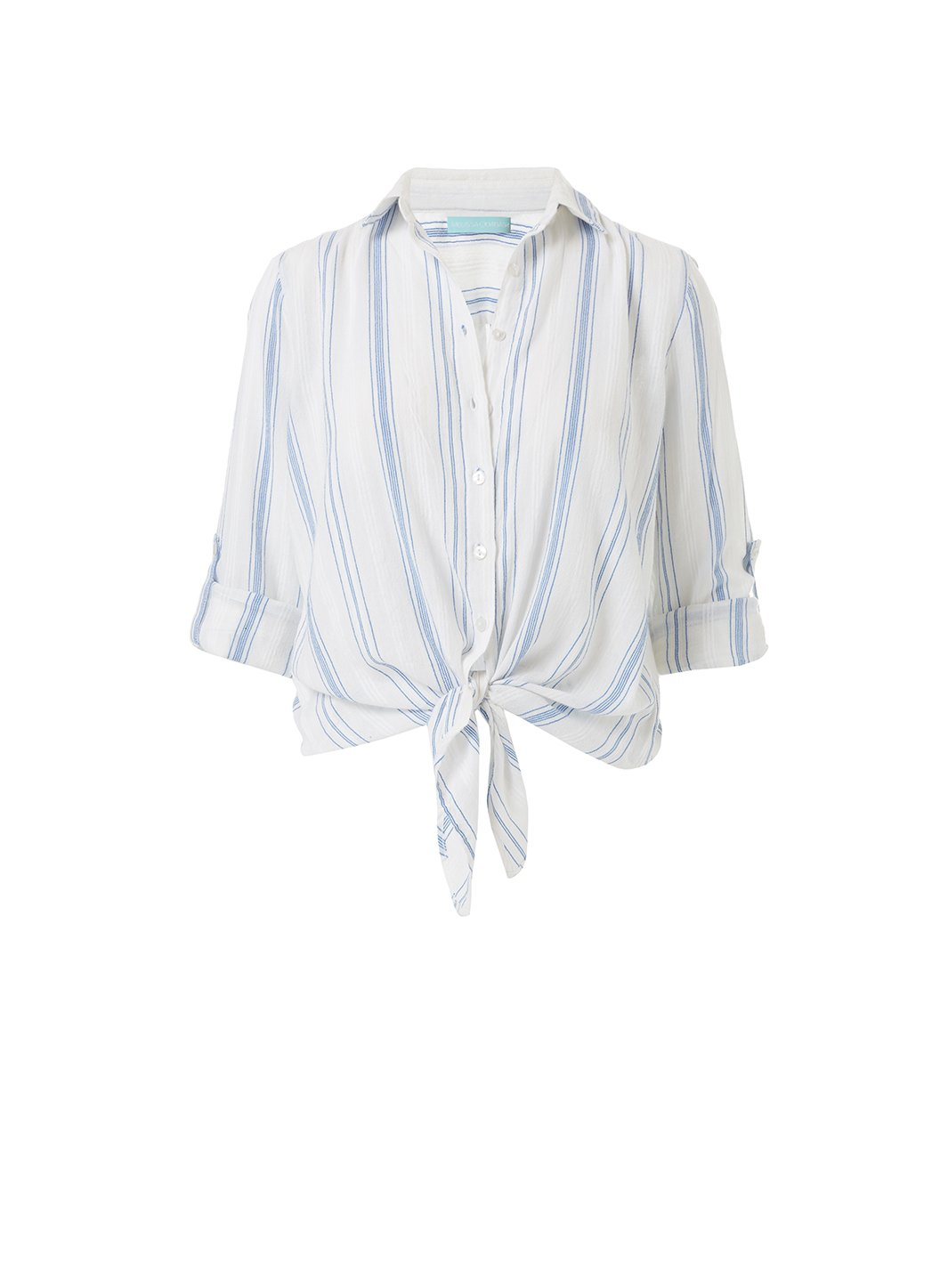 inny blue stripe cropped shirt 2019