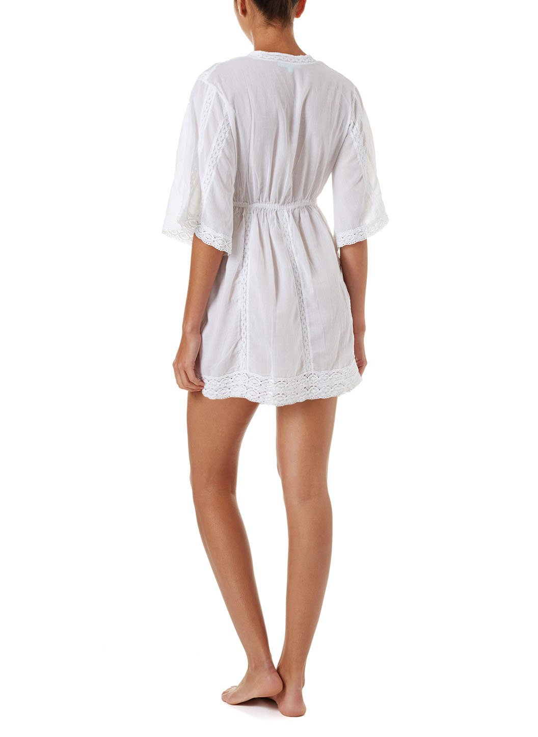 jade white vneck 34sleeve beach dress 2019 B