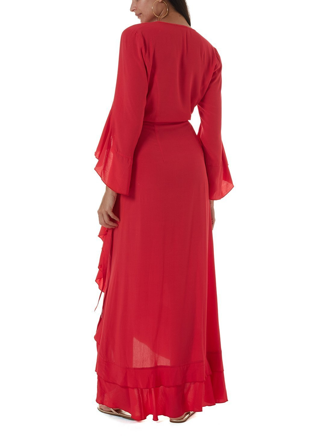 cheryl red long dress