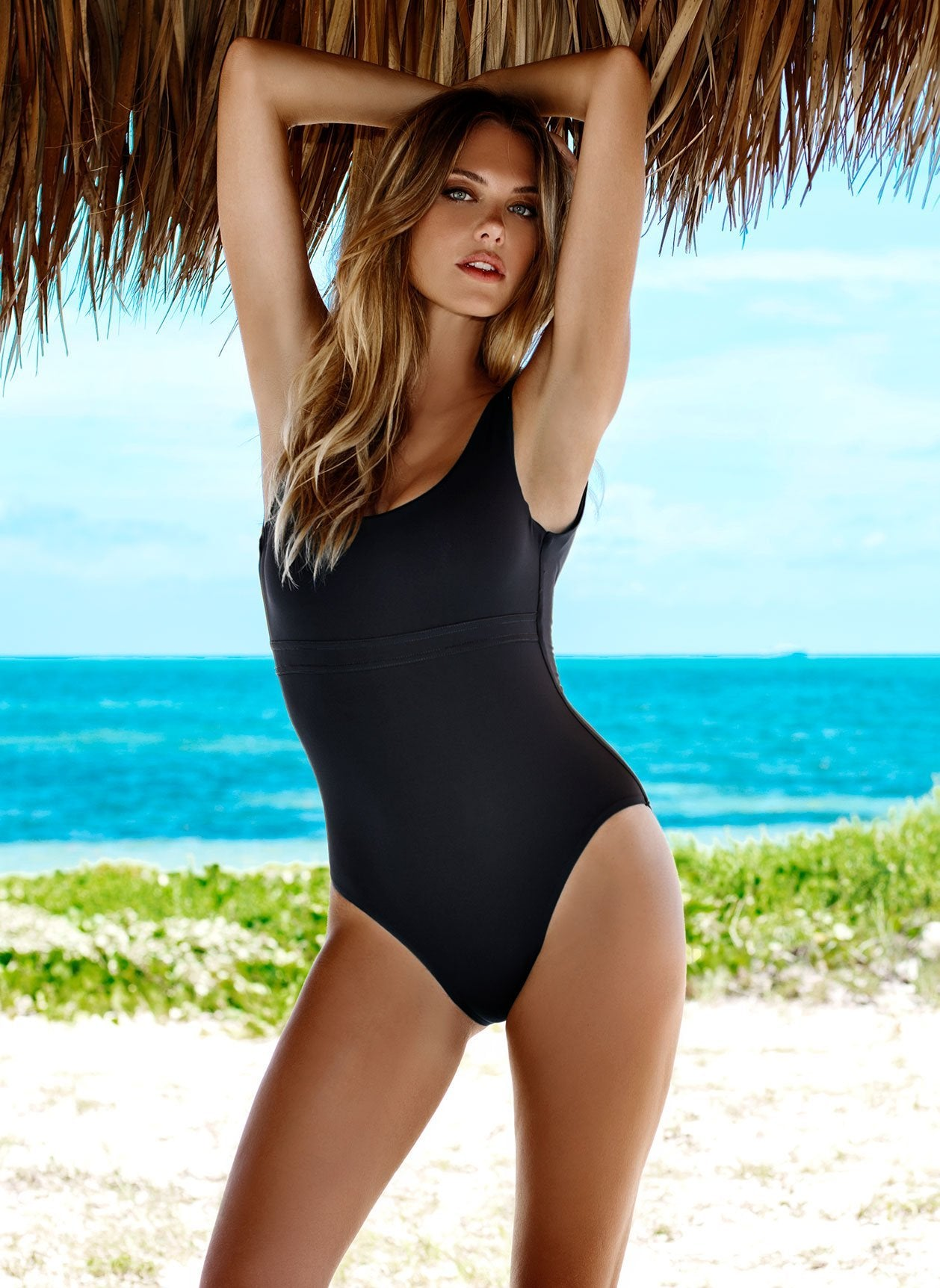 Kos Black Swimsuit Lifestyle
