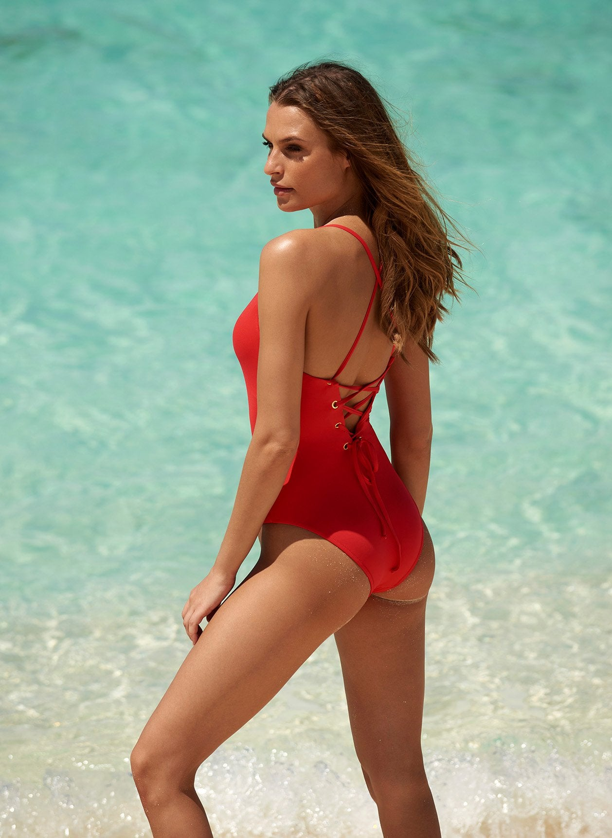 Catalina Red Swimsuit