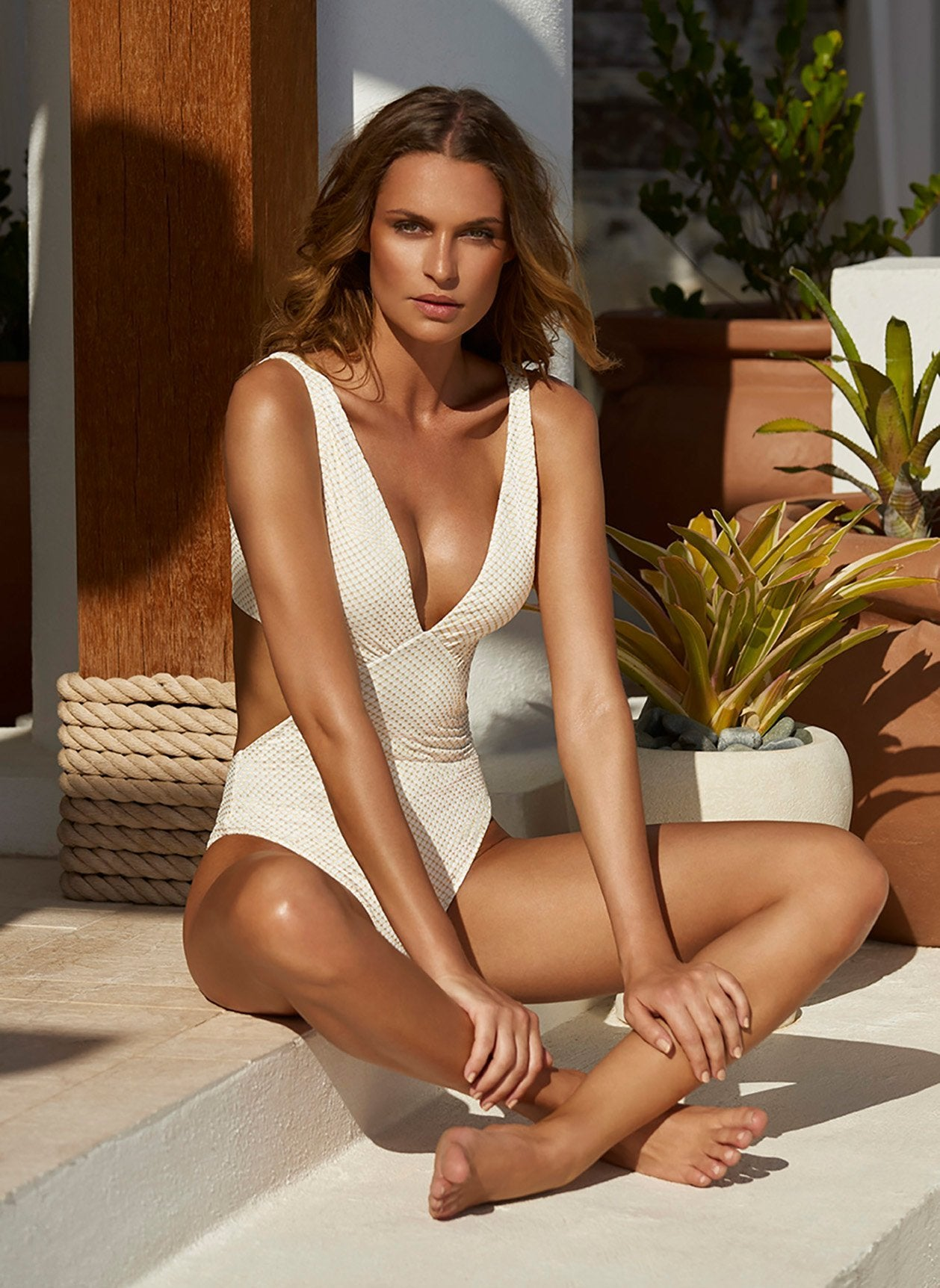 del mar hexagon swimsuit