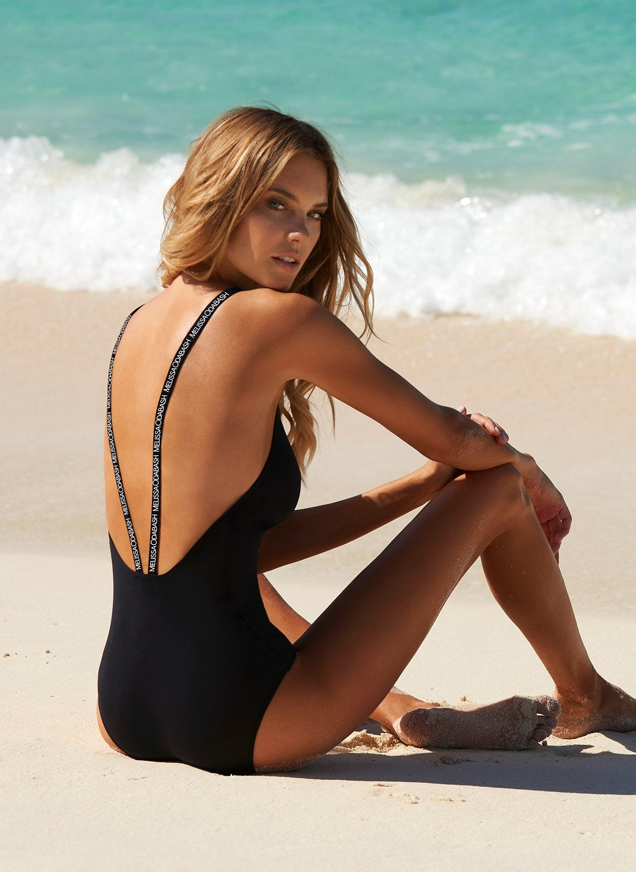 Italy Black Sports Low-Back One Piece 2020