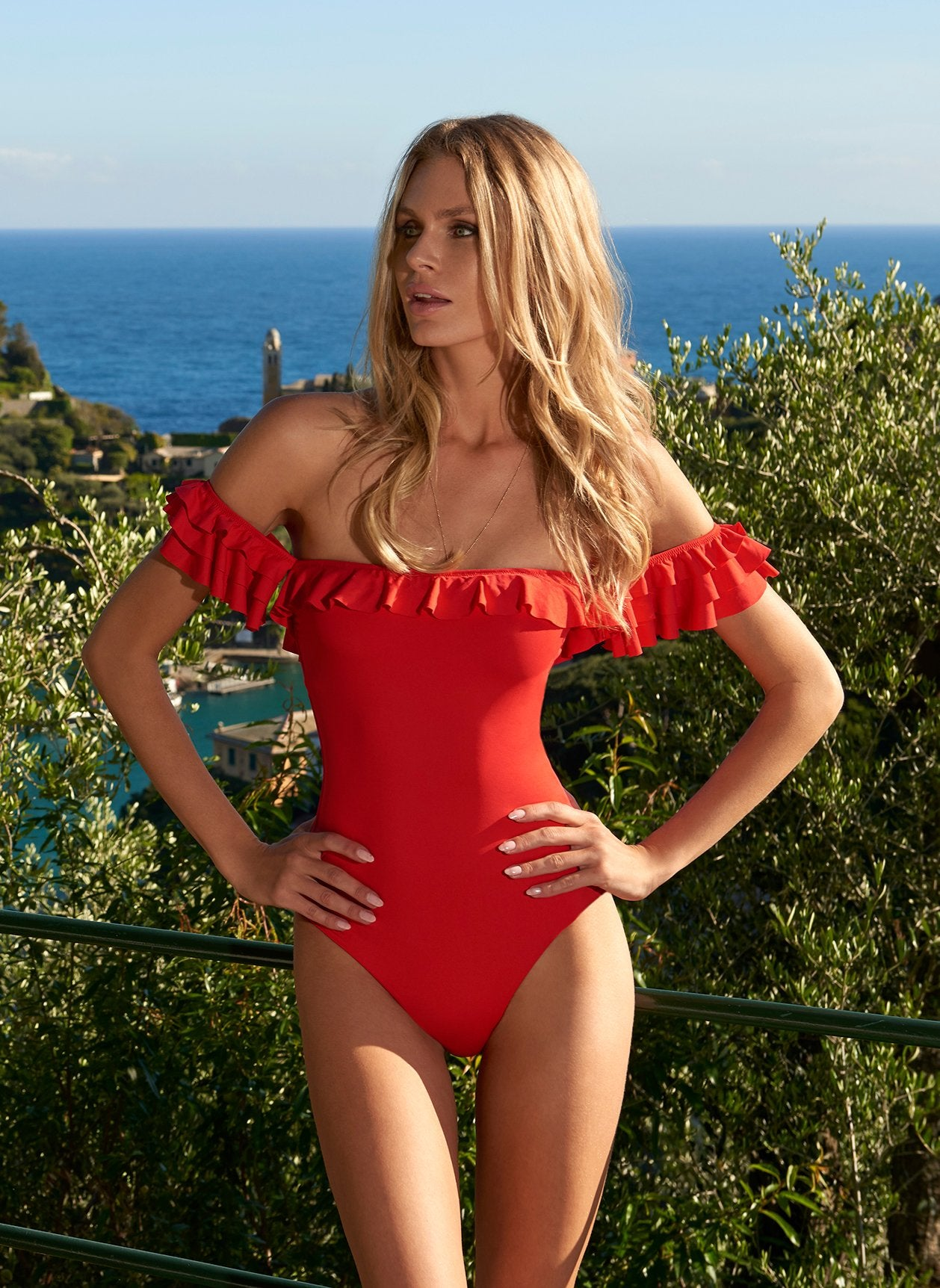 Lima Red Swimsuit