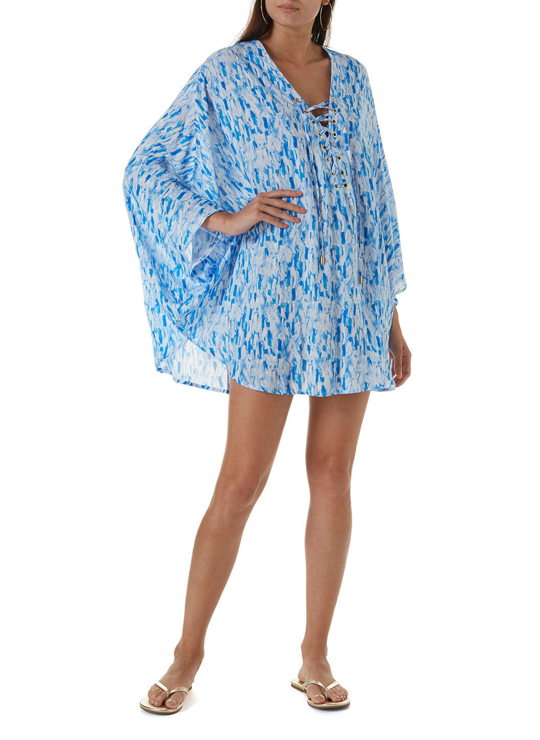 Lottie Waterfall Lace Up Short Kaftan 2020