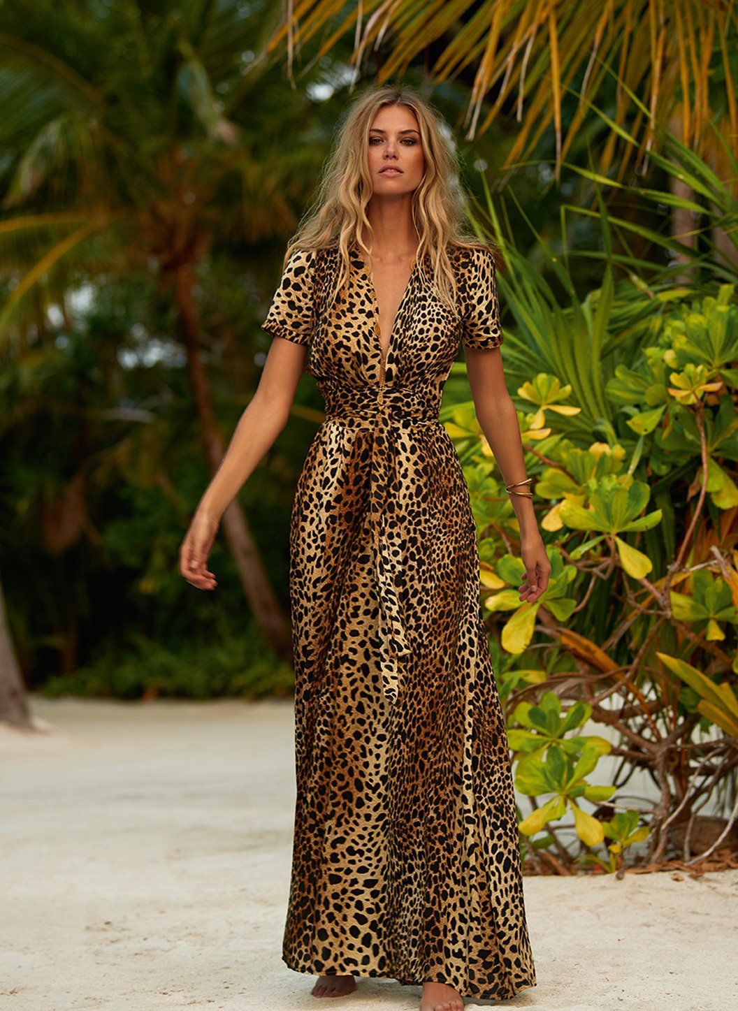 lou cheetah vneck belted maxi dress lifestyle 2019