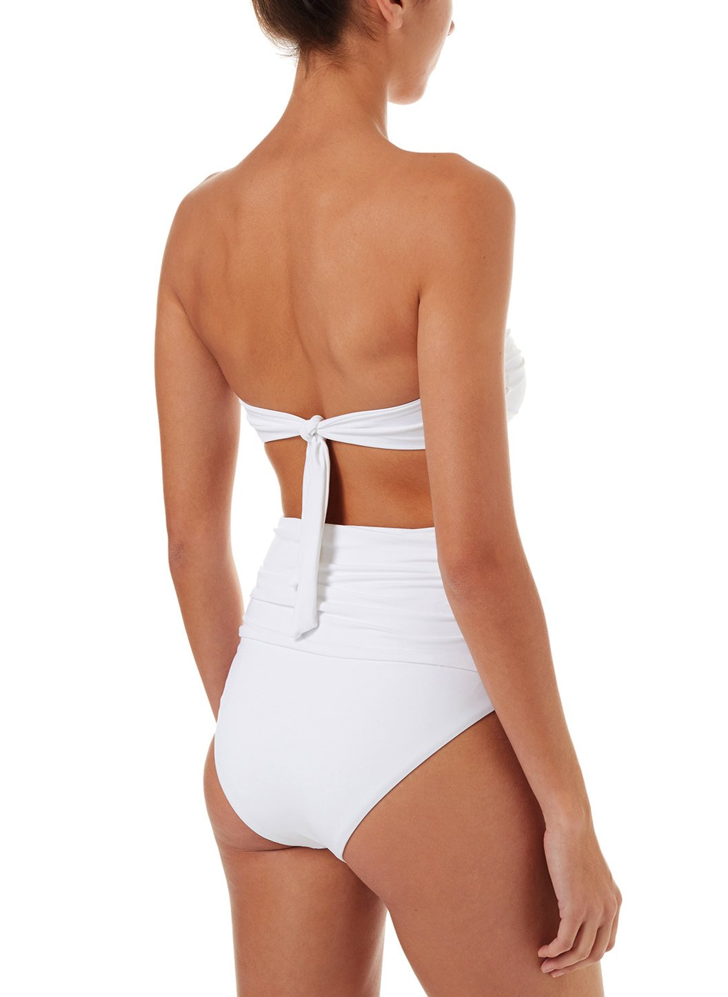 lyon white highwaisted bandeau bikini 2019 B