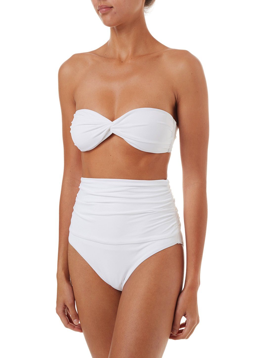 lyon white highwaisted bandeau bikini 2019 F