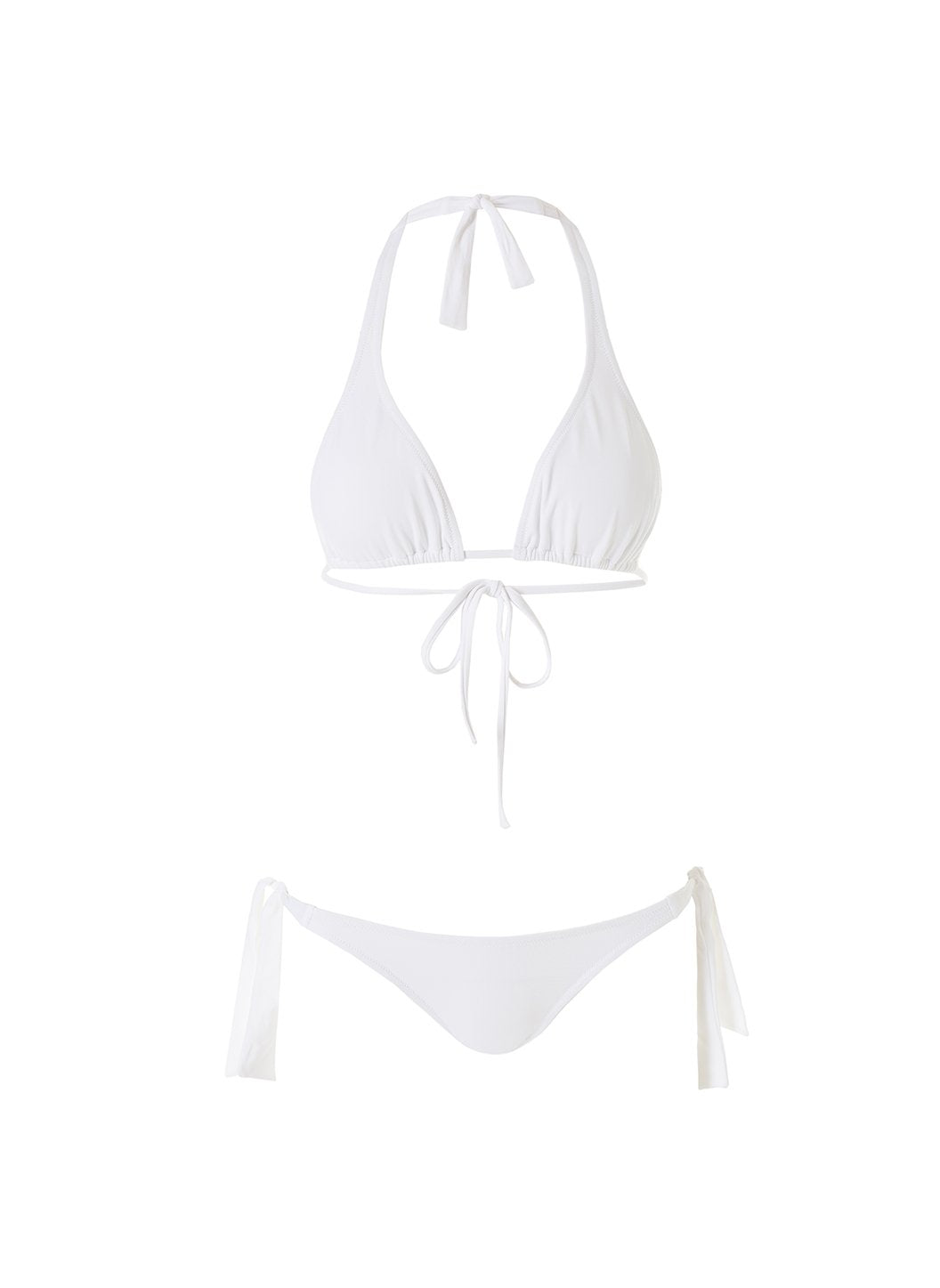 Maldives White Just Married Halterneck Bikini