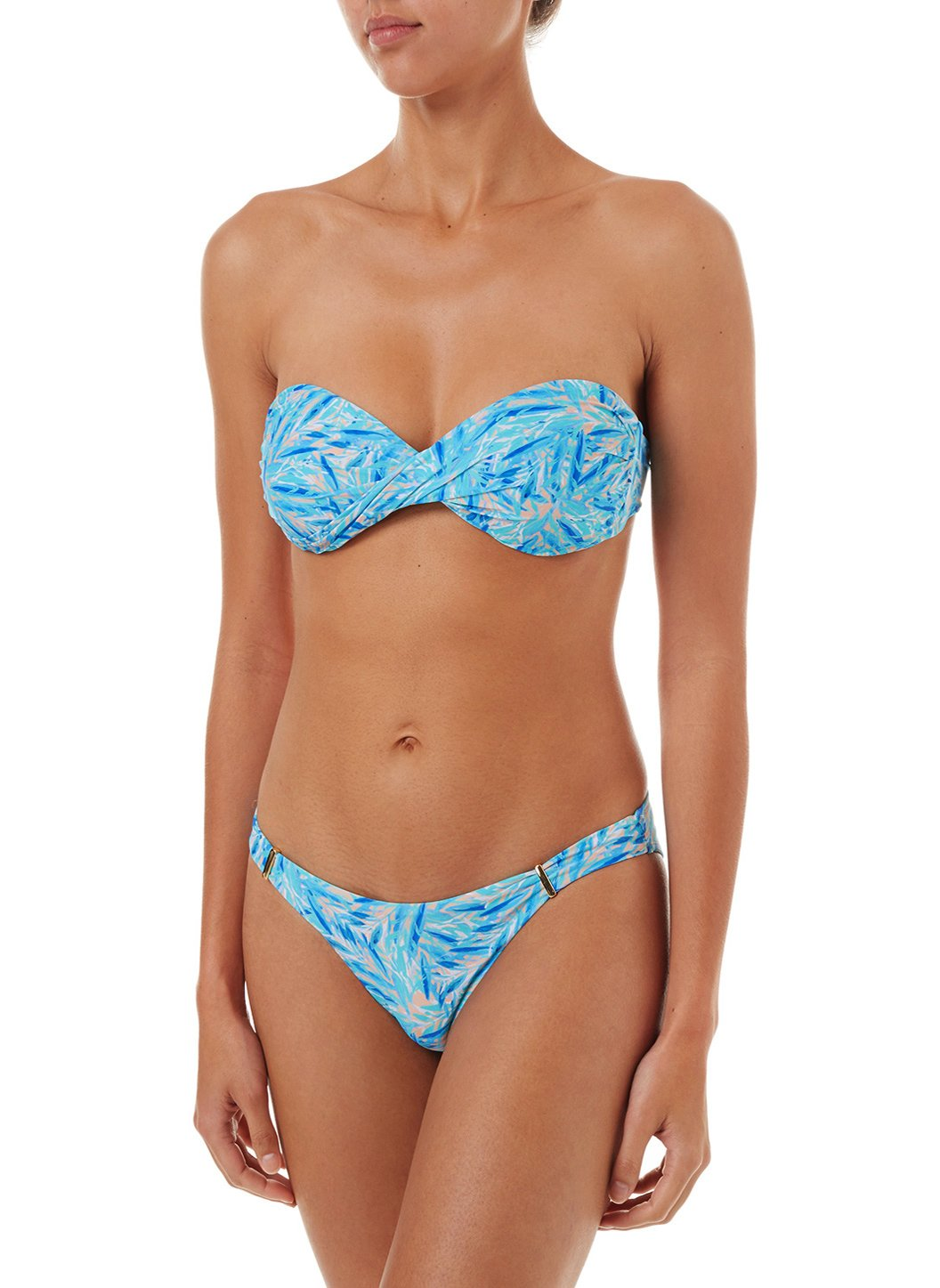 martinique blueleaf bandeau padded twist bikini 2019 F
