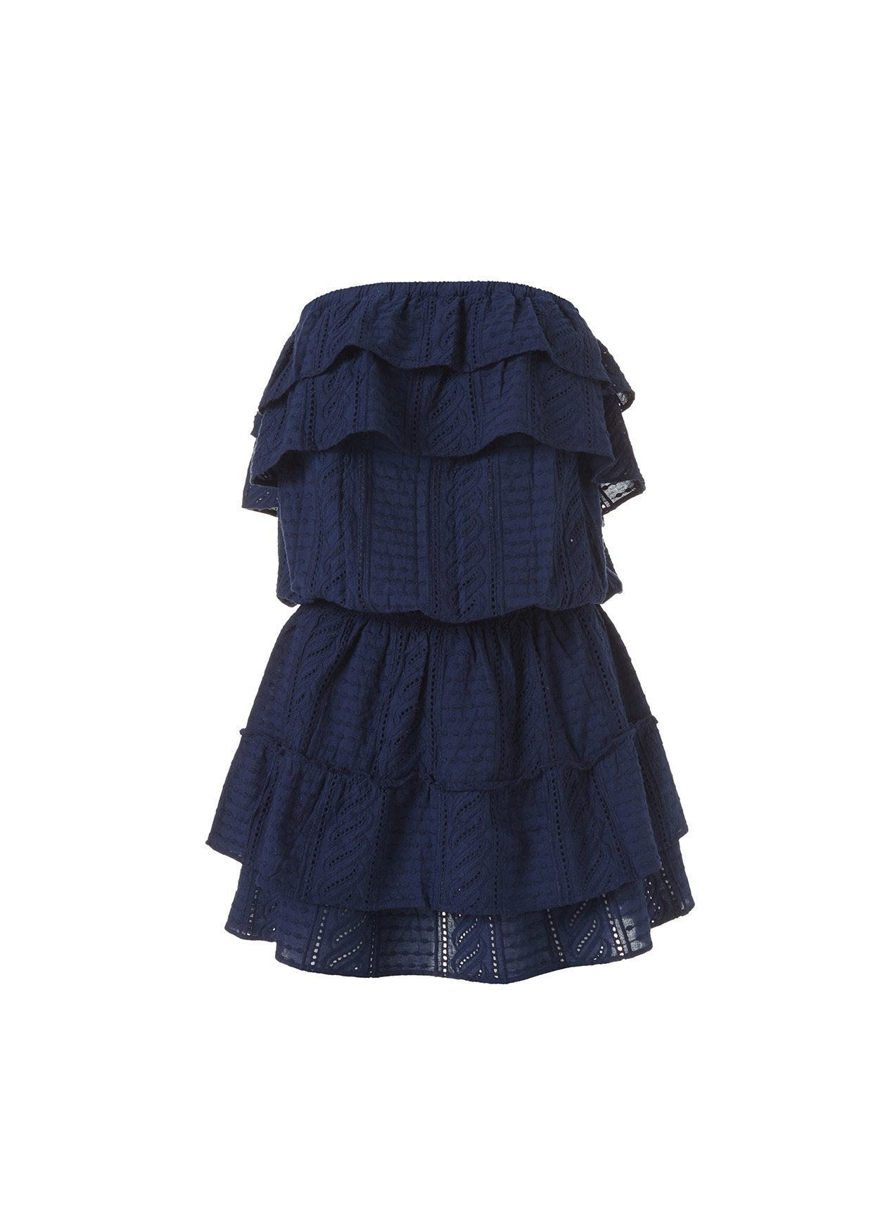 Mia Navy Frill Short Dress 2020