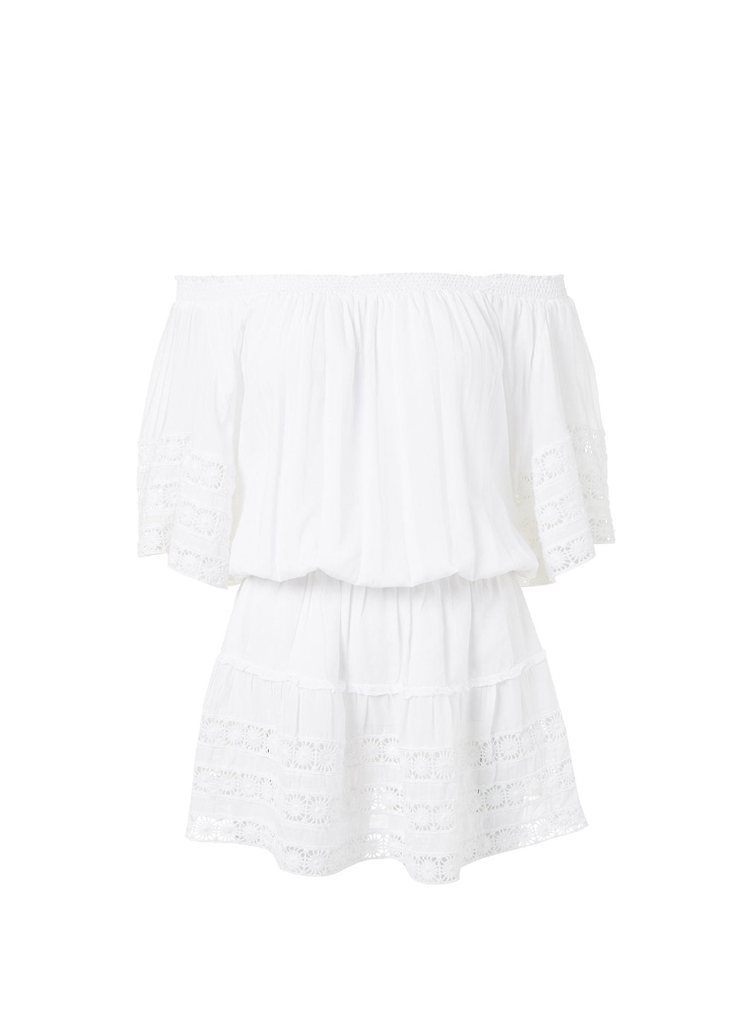 michelle white offtheshoulder short beach dress 2019
