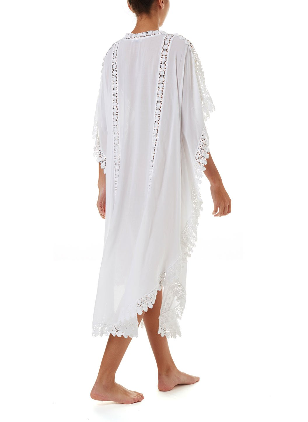 nicki white lace embroidered vneck maxi kaftan 2019 B_ _Copy