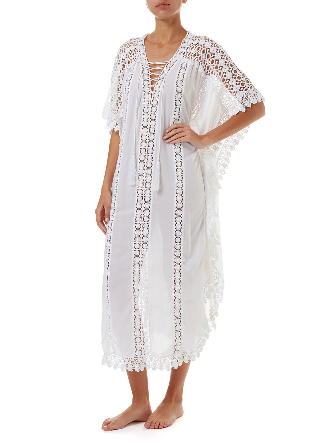 nicki white lace embroidered vneck maxi kaftan 2019 F_ _Copy