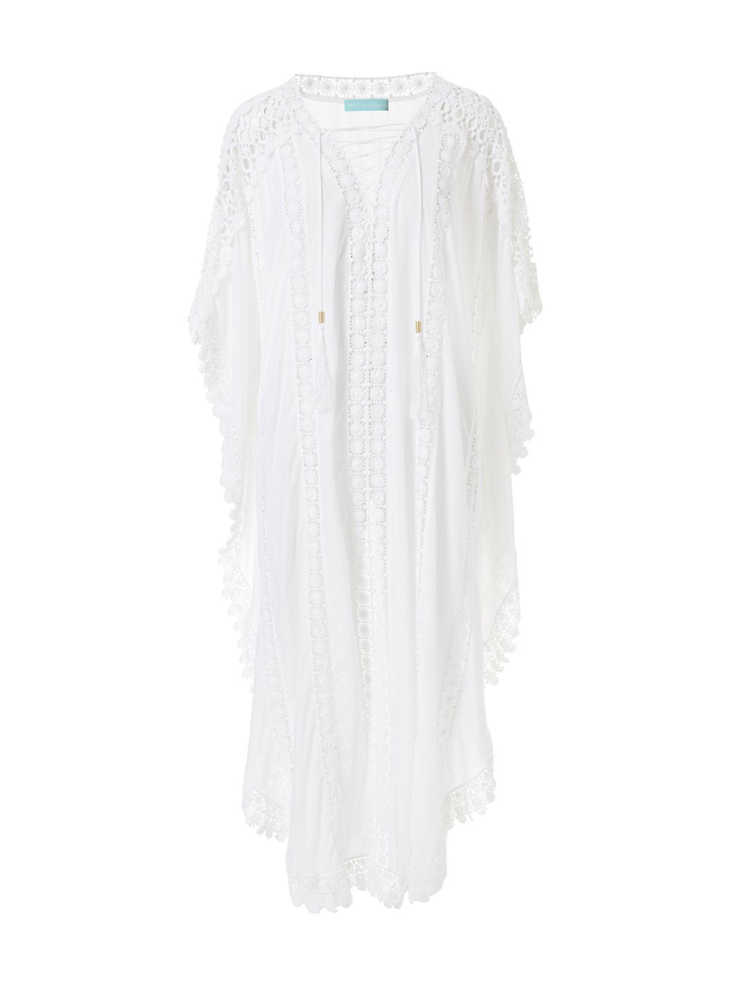nicki white lace embroidered vneck maxi kaftan 2019