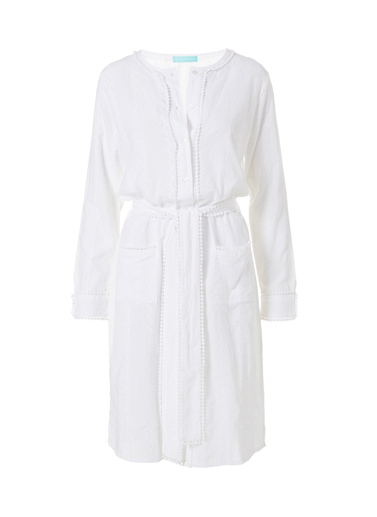 Patty White Long Kaftan