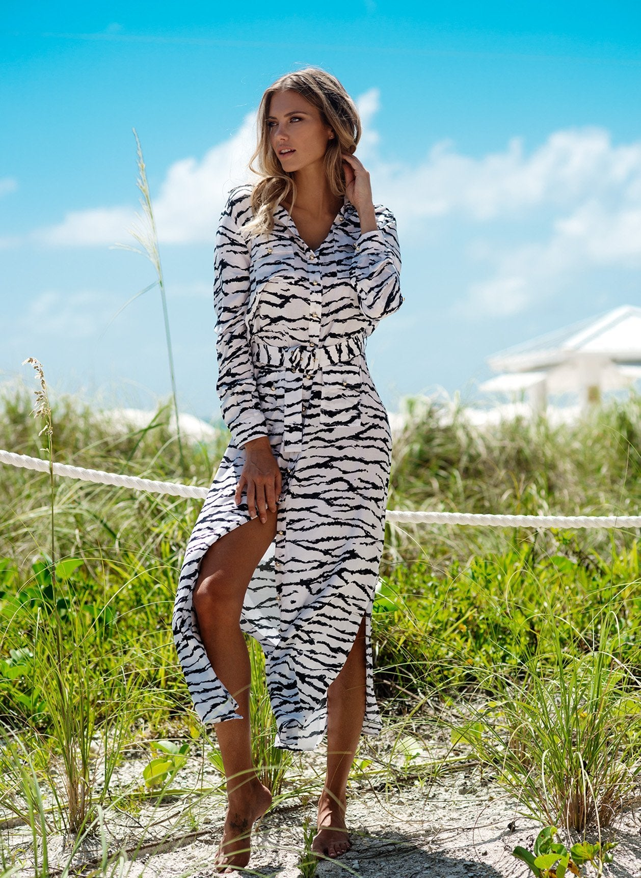 Peggy Tiger Print Dress Lifestyle
