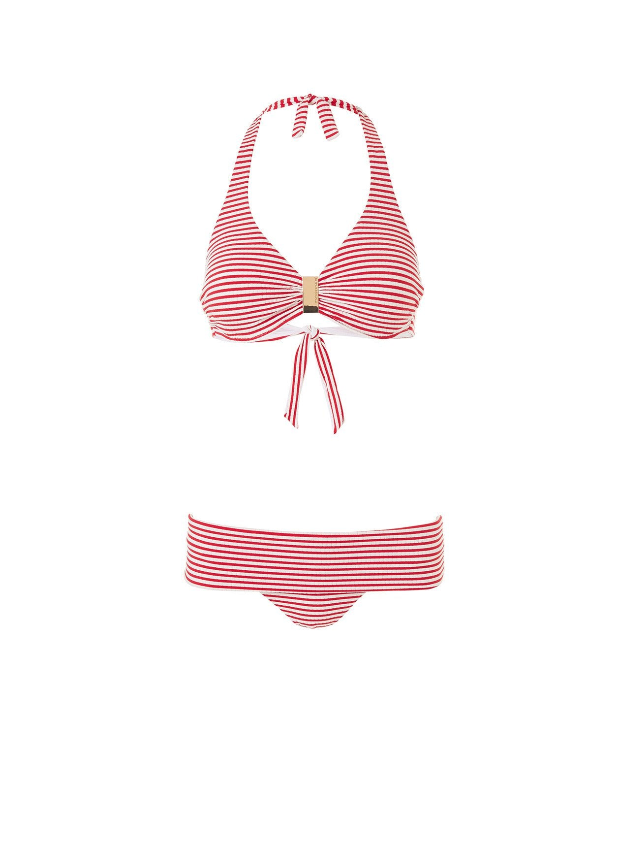Provence Nautical Red Halterneck Bikini