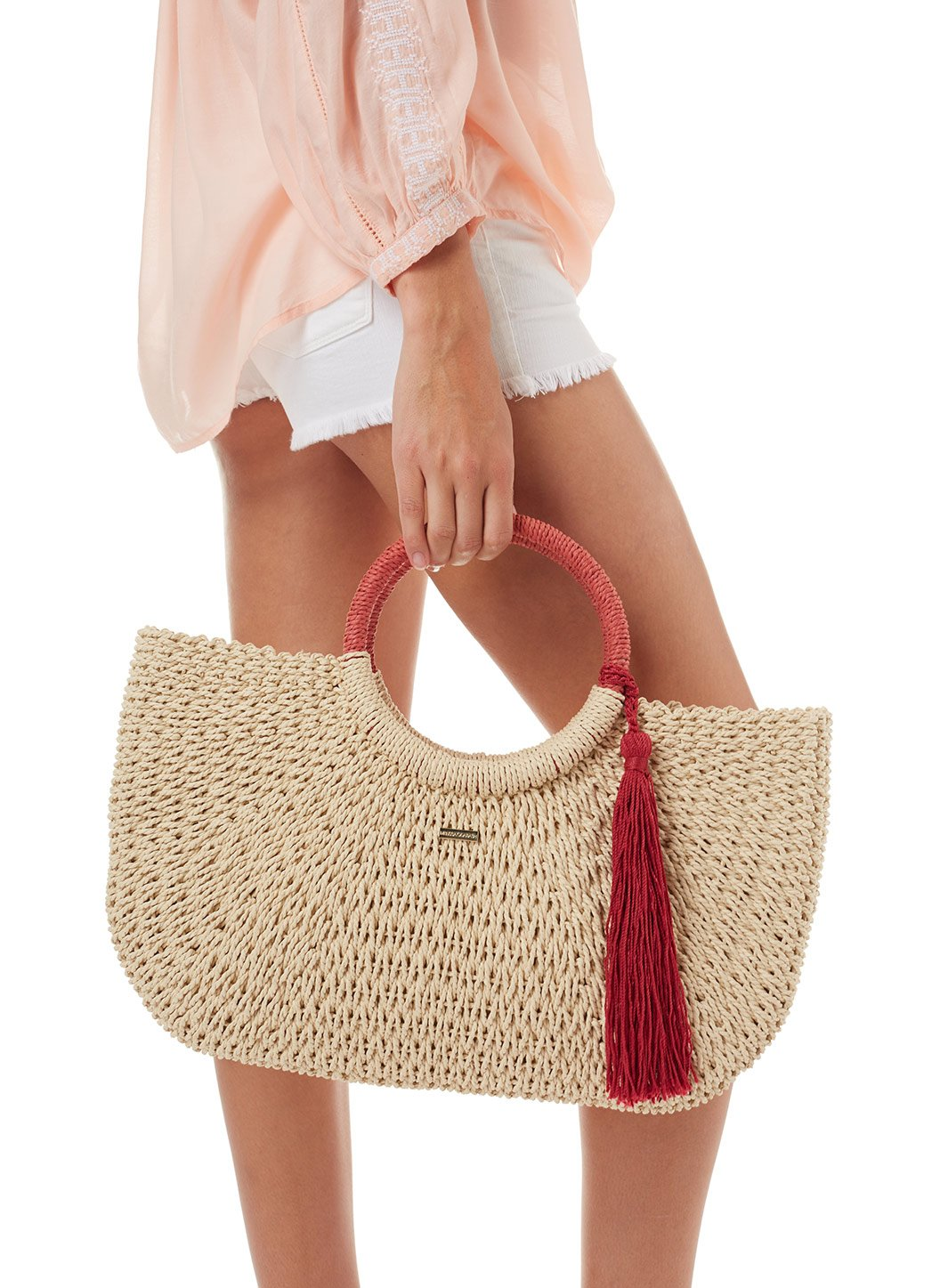 sorrento woven basket tassle bag natural cinnamon 2019 3
