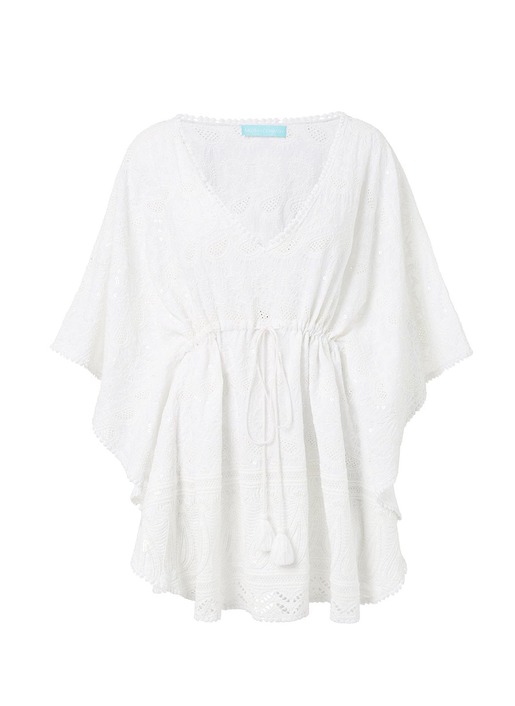 trixie white textured vneck kaftan 2019