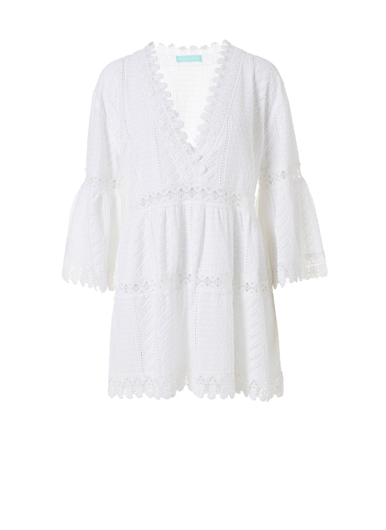 Victoria White Mini Kaftan