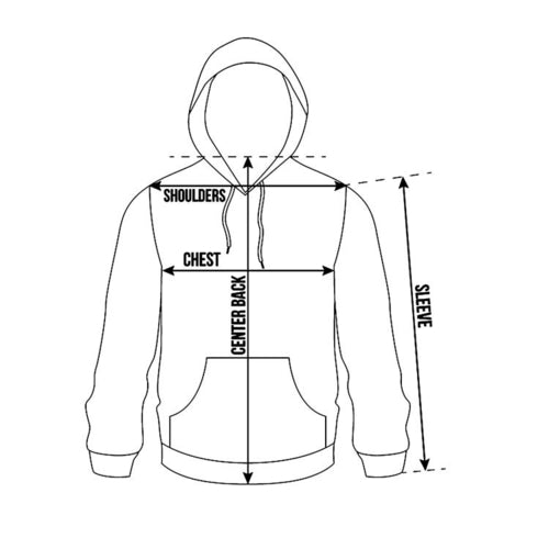 TurtleDojo-Unisex-Hoodies-Size-Guide