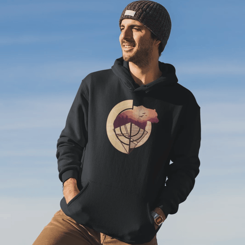 Abstract Bear Hoodie For Men & Women Clothing Turtle Dojo